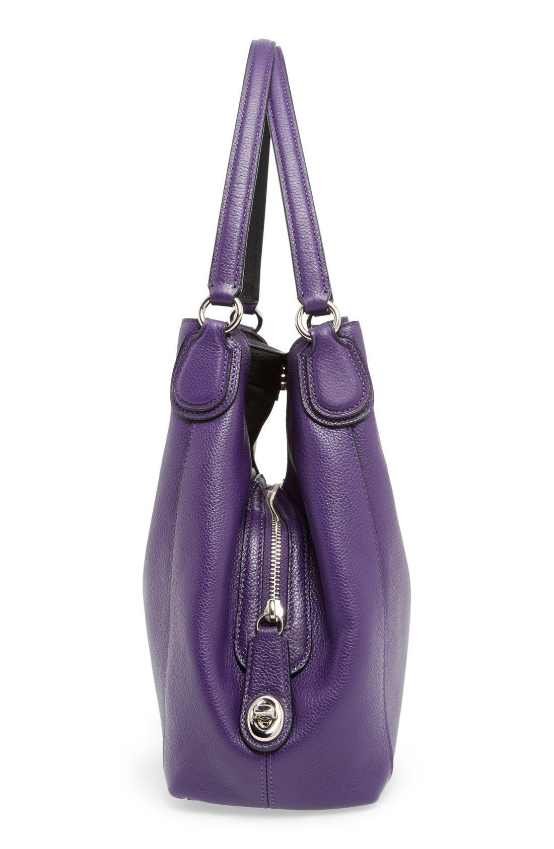 COACH,                             'Edie 31' Pebbled Leather Shoulder Bag,                             Alternate thumbnail 5, color,                             500
