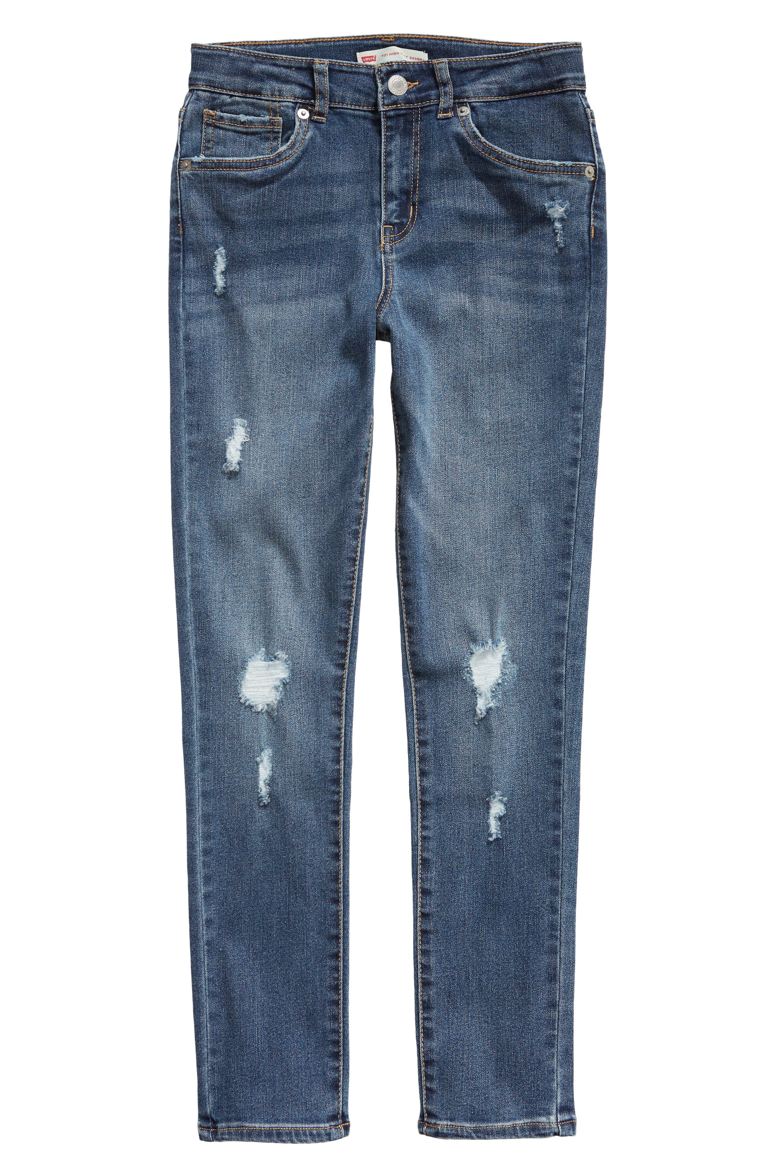 LEVI'S<SUP>®</SUP>,                             721<sup>™</sup> High Waist Skinny Jeans,                             Main thumbnail 1, color,                             M7V-MAKE OR BREAK
