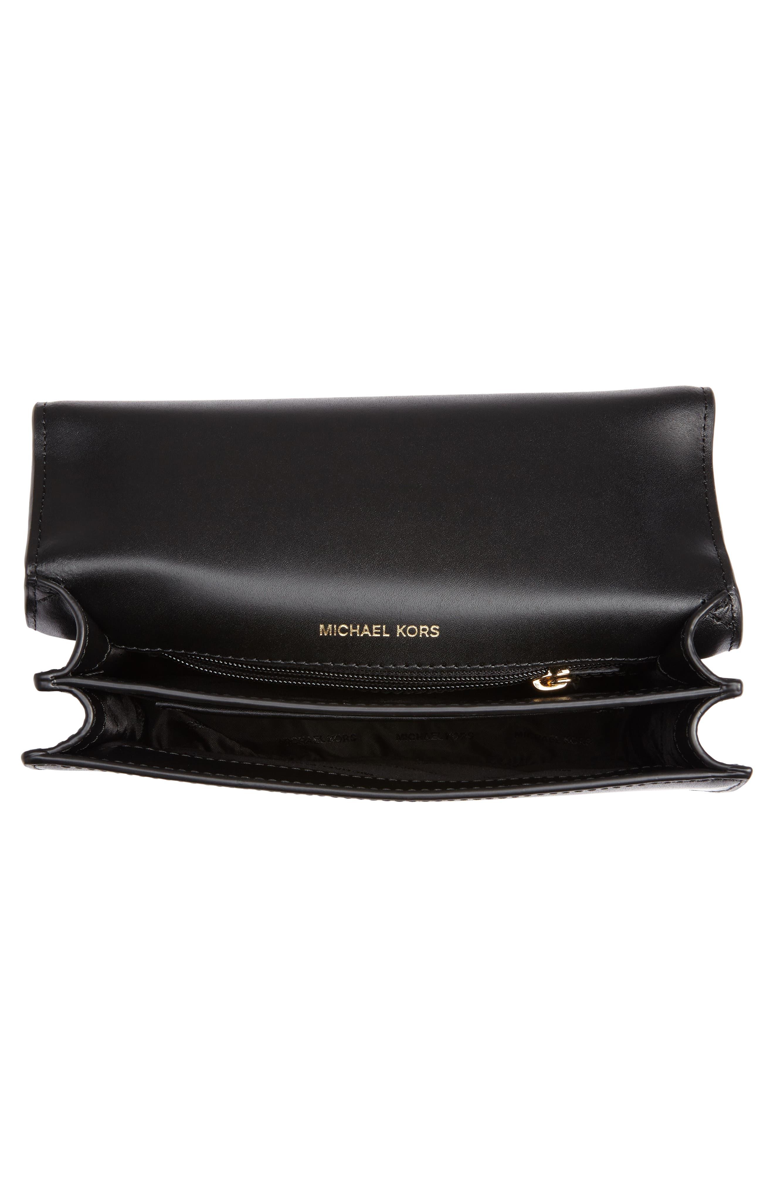 Large Mott Chain Swag Leather Shoulder Bag,                             Alternate thumbnail 4, color,                             001