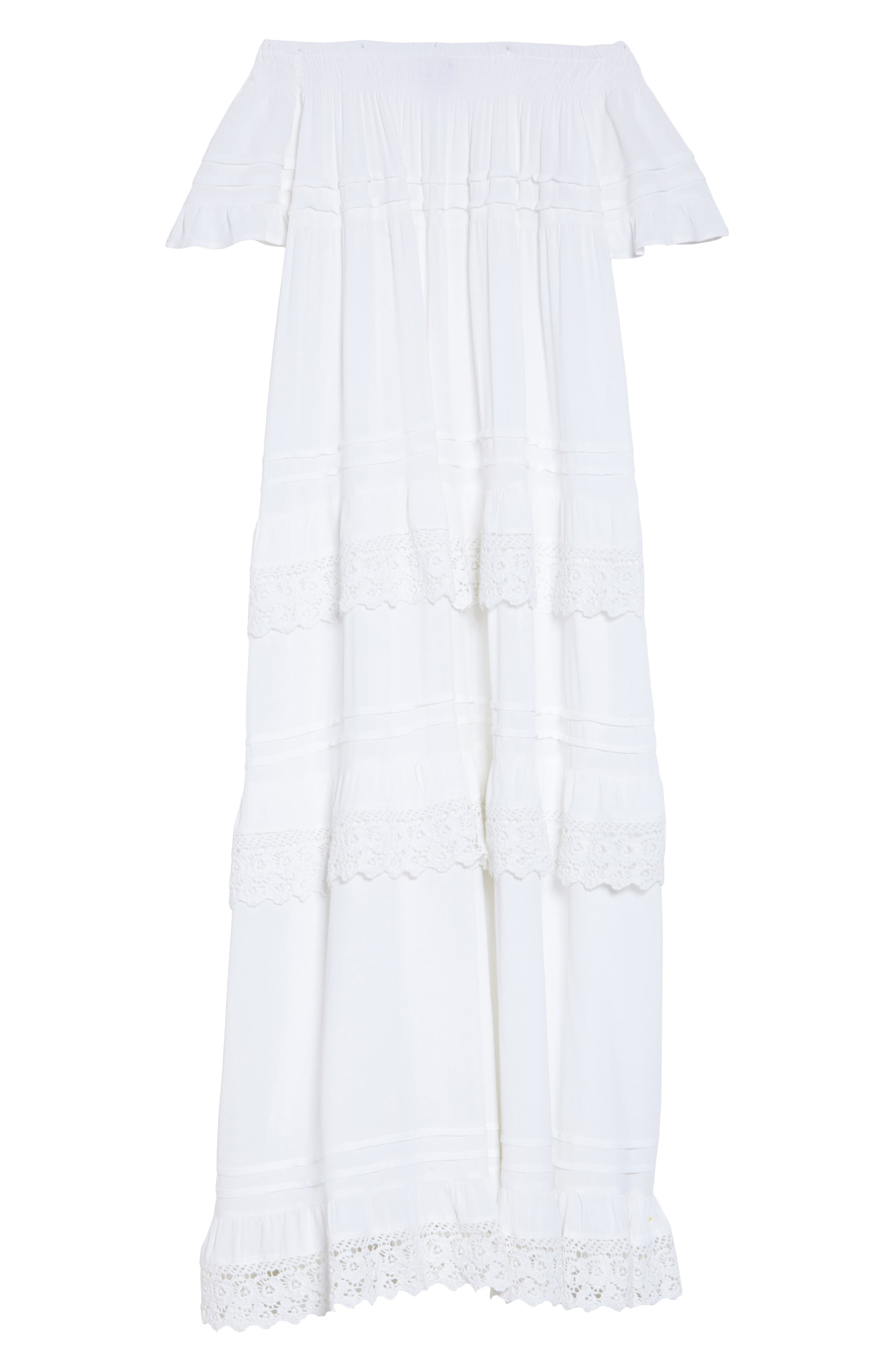 Esmerelda Off the Shoulder Cover-Up Maxi Dress,                             Alternate thumbnail 12, color,