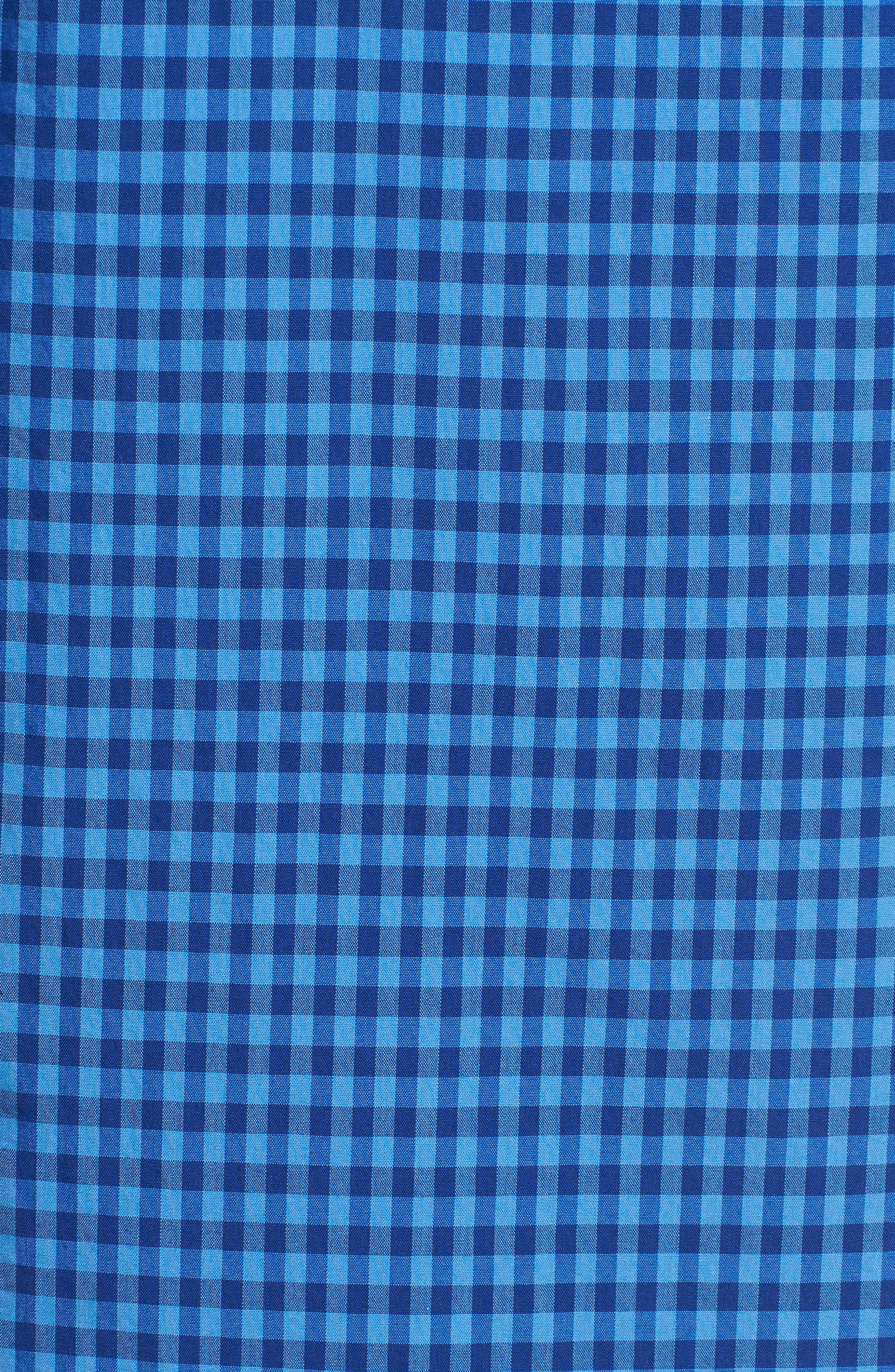 Gingham Check Poplin Shirt,                             Alternate thumbnail 5, color,                             493