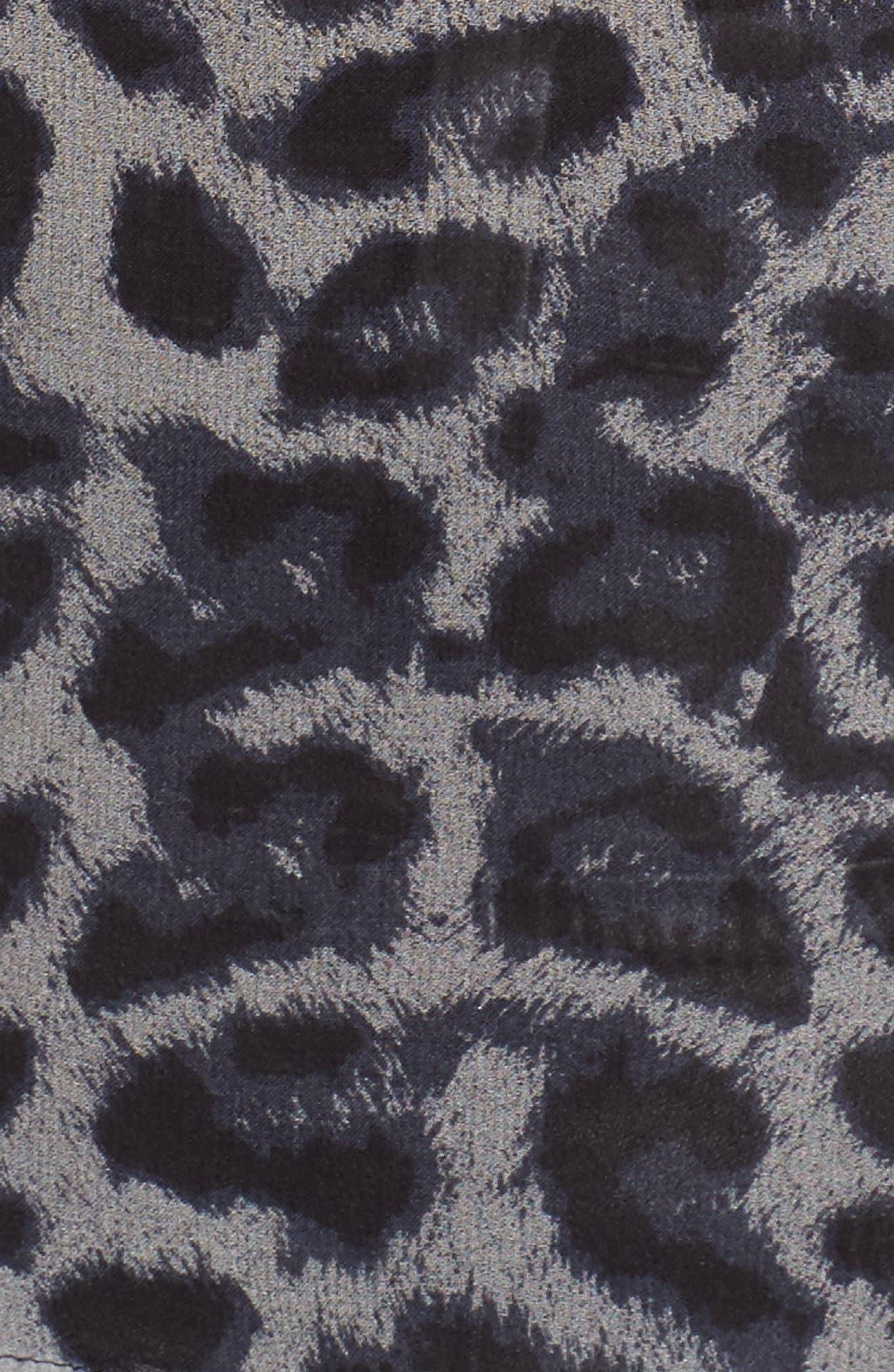 Tigris Print Silk Shirt,                             Alternate thumbnail 5, color,                             009