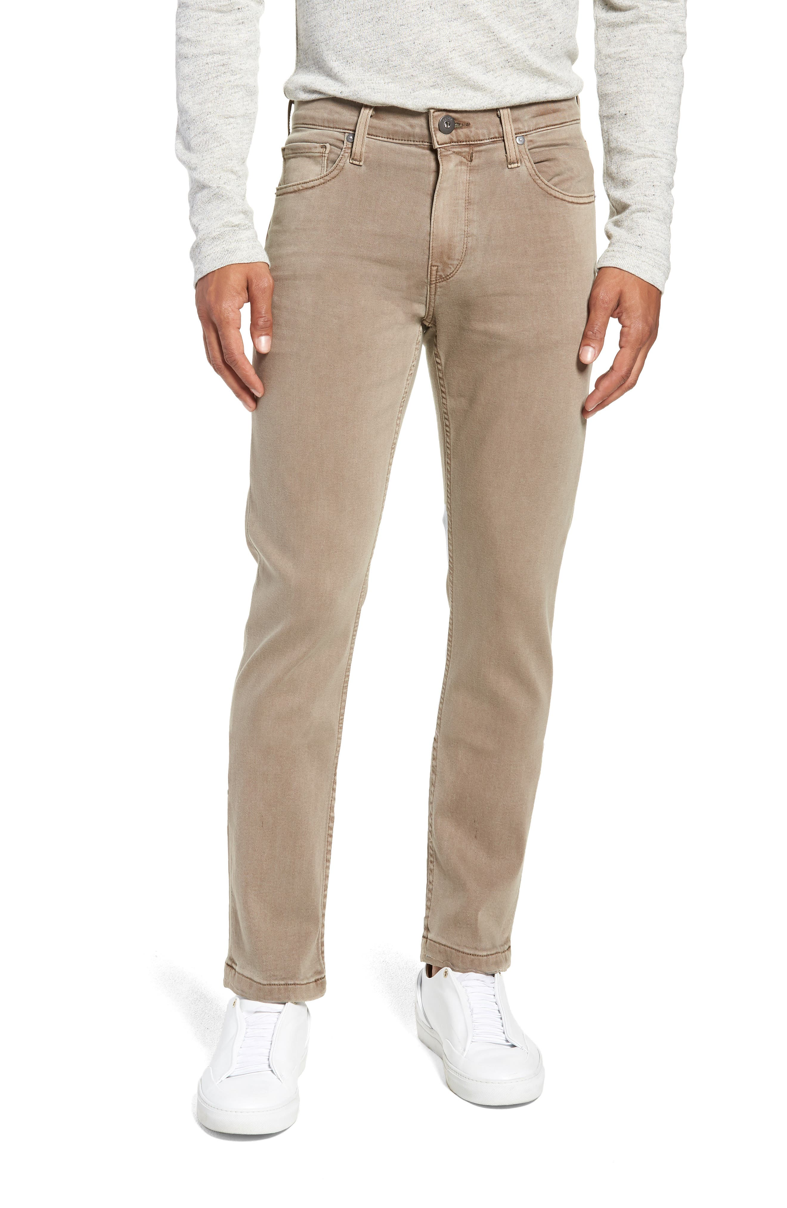 Transcend - Lennox Slim Fit Twill Pants,                             Main thumbnail 1, color,                             VINTAGE MUSHROOM