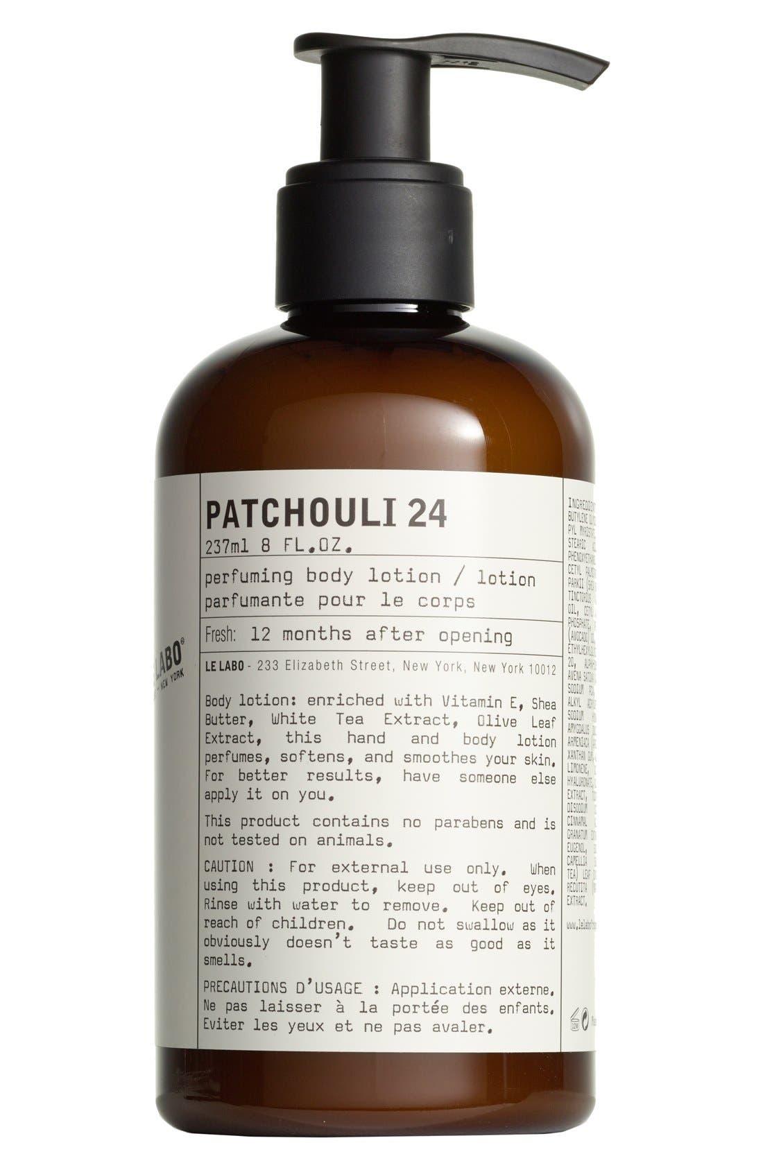LE LABO,                             'Patchouli 24' Hand & Body Lotion,                             Main thumbnail 1, color,                             000