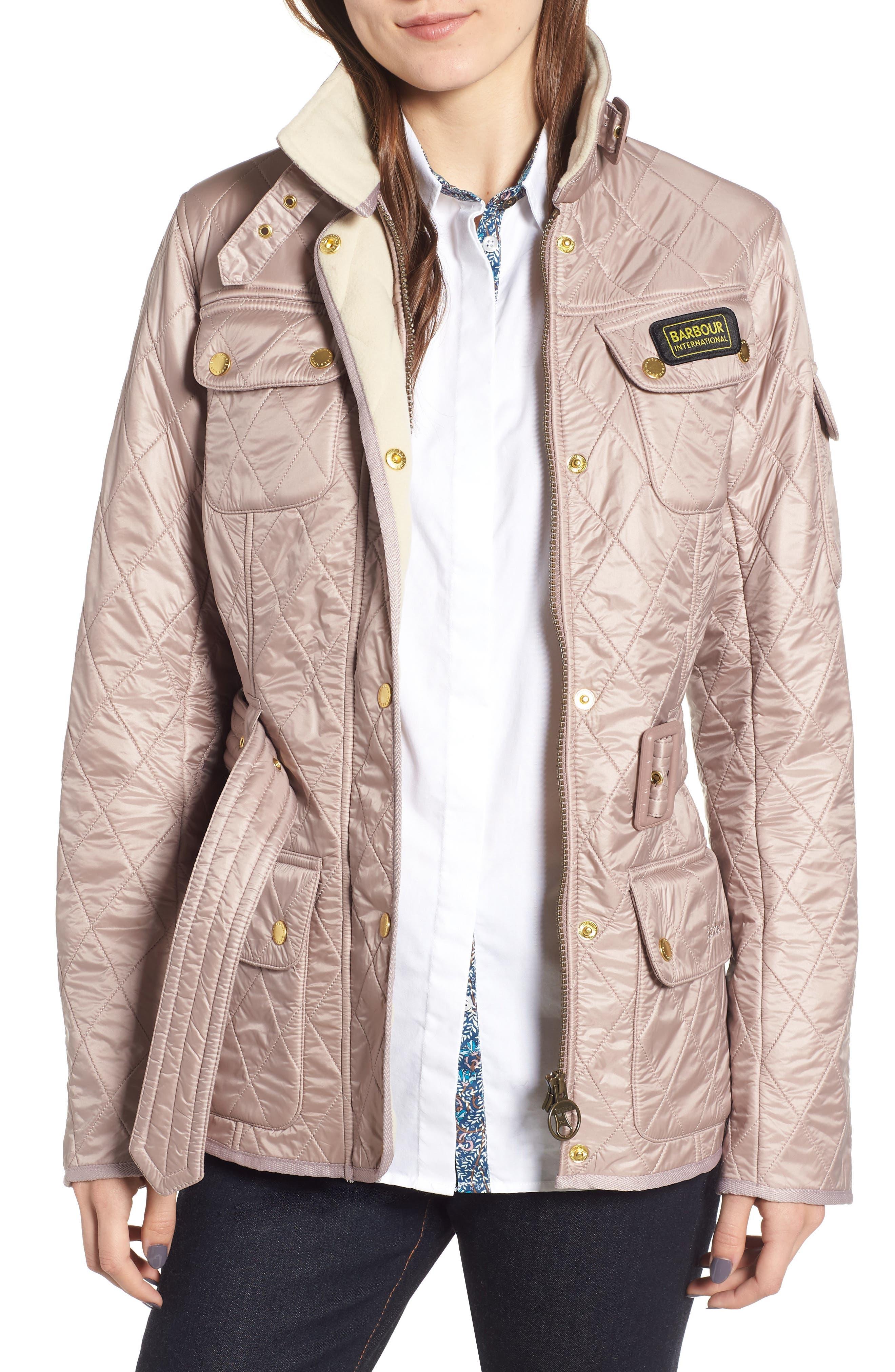 Barbour International Polar Quilted Jacket, US / 12 UK - Beige