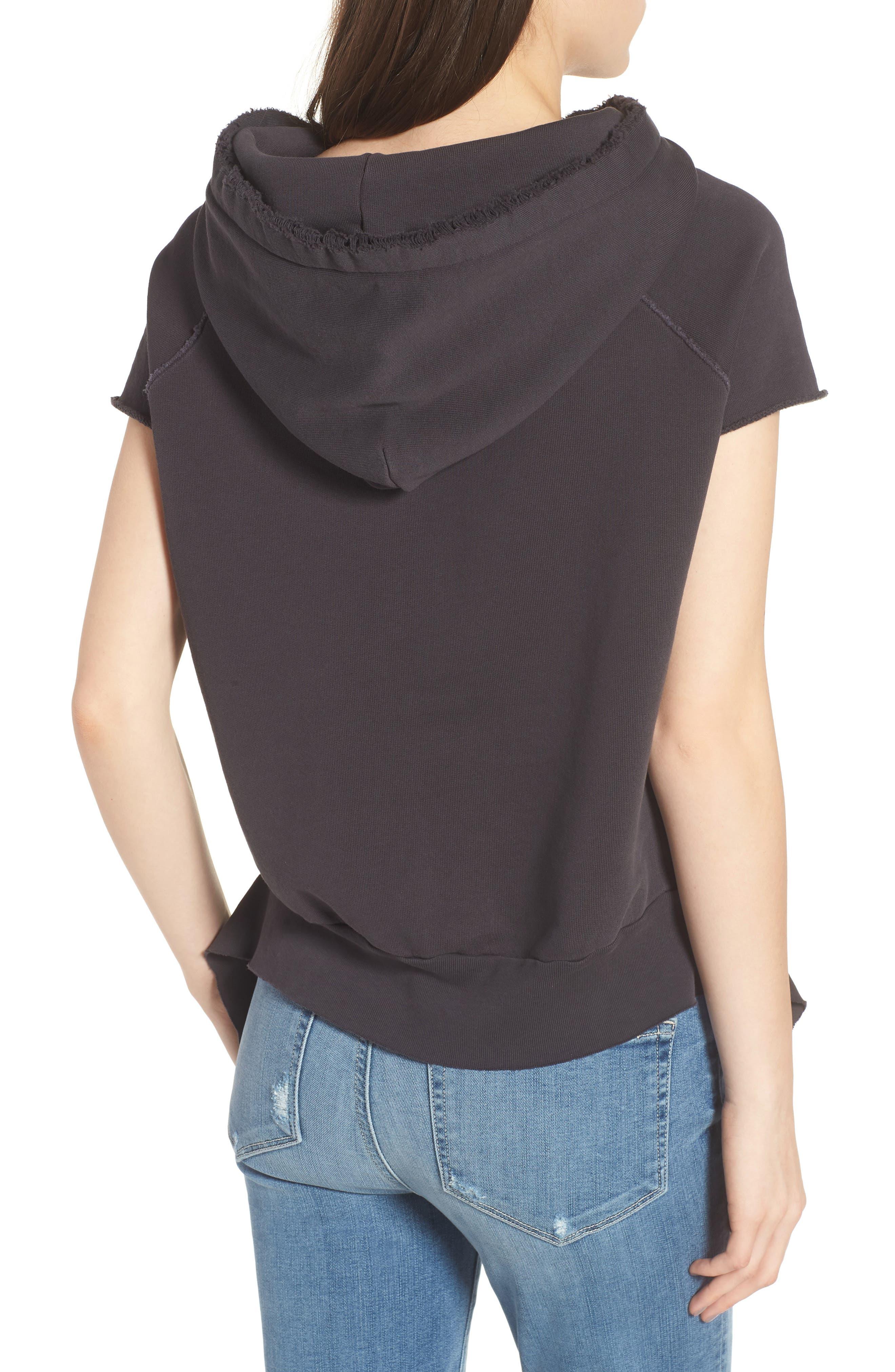 Short Sleeve Pullover Hoodie,                             Alternate thumbnail 2, color,                             020
