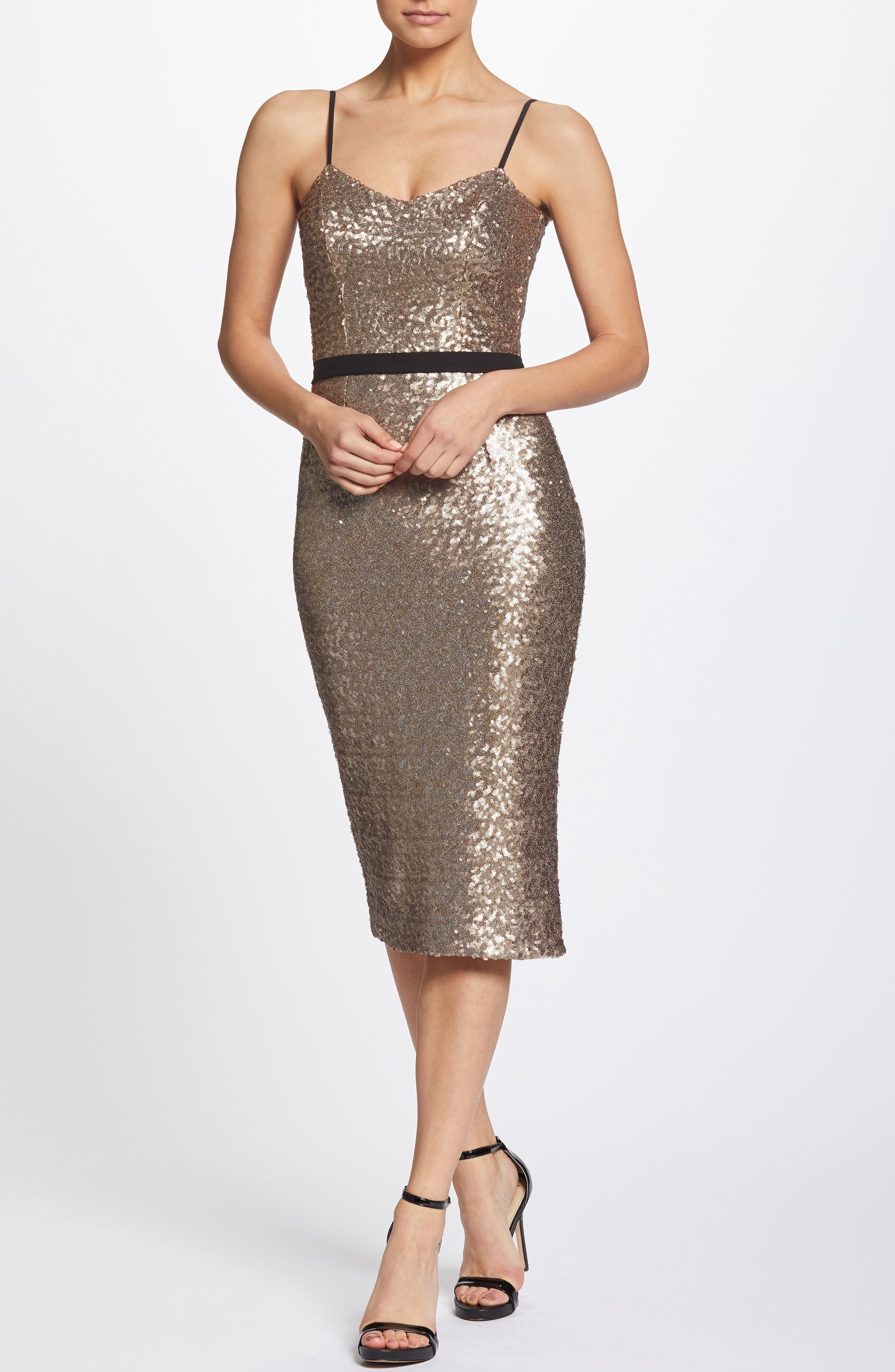 Emma Sequin Body-Con Dress,                             Alternate thumbnail 6, color,                             717