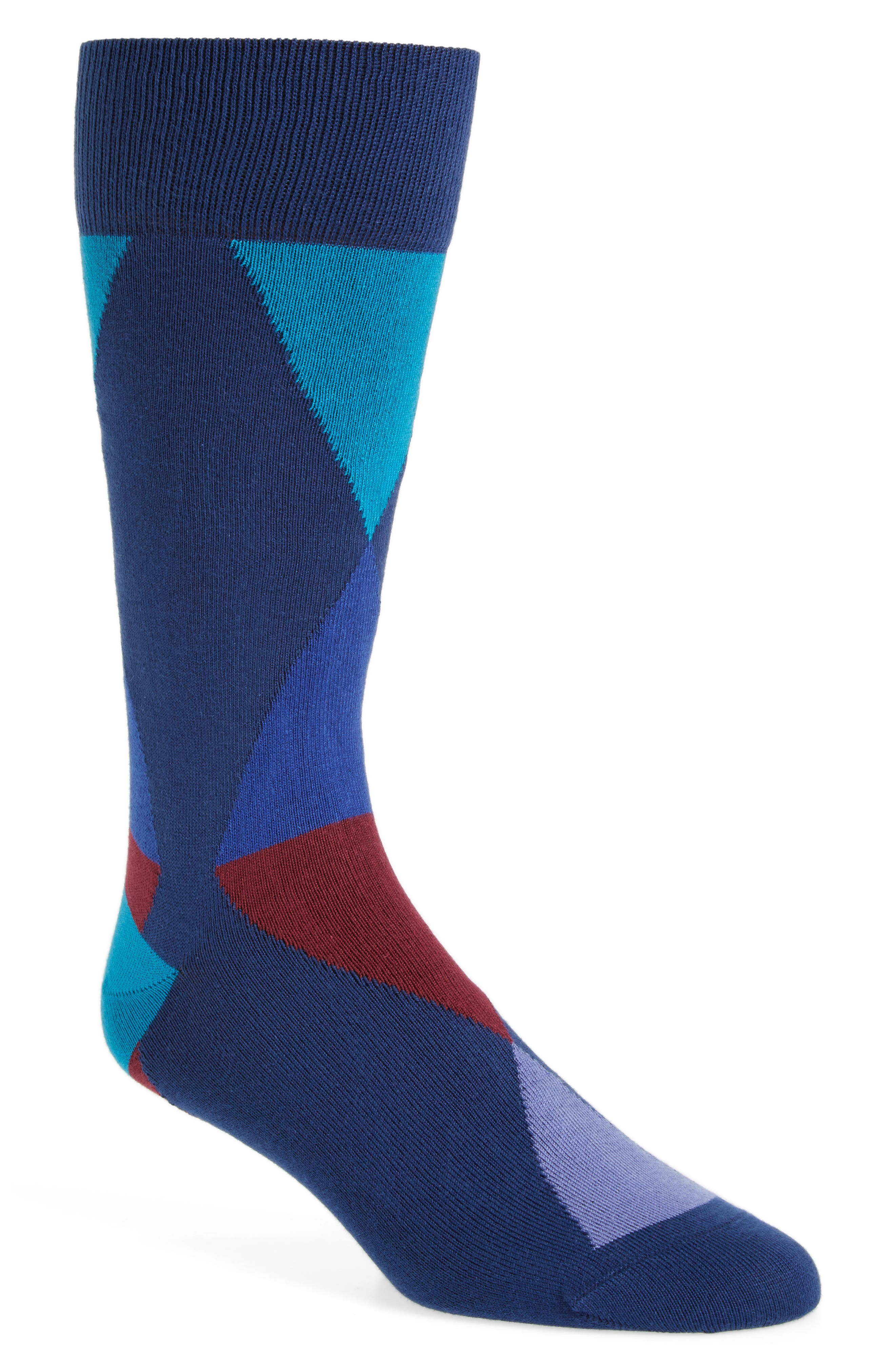 Geo Geometric Socks,                             Main thumbnail 1, color,                             400