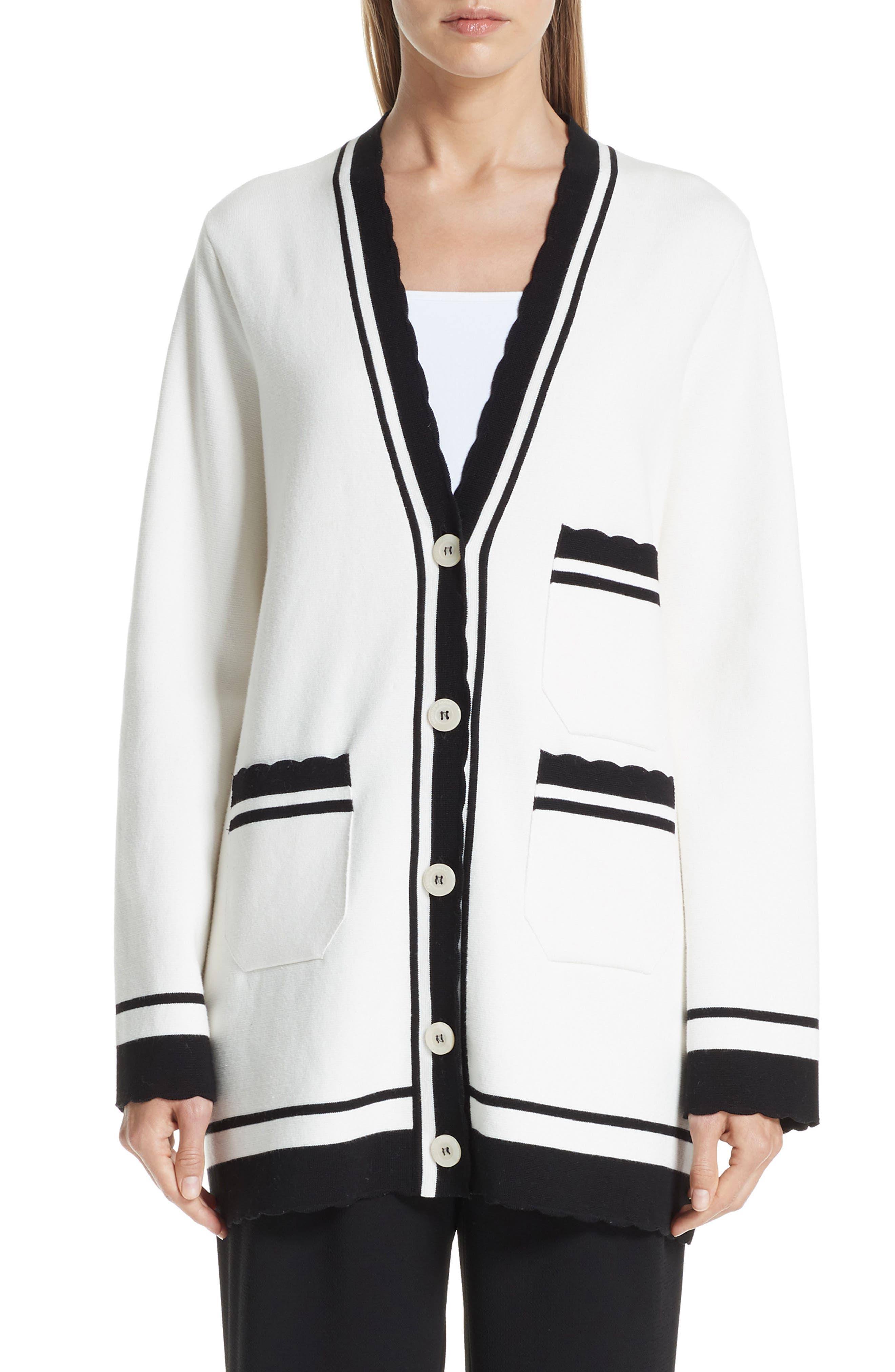 Button Cardigan, Main, color, BIANCO CALDO