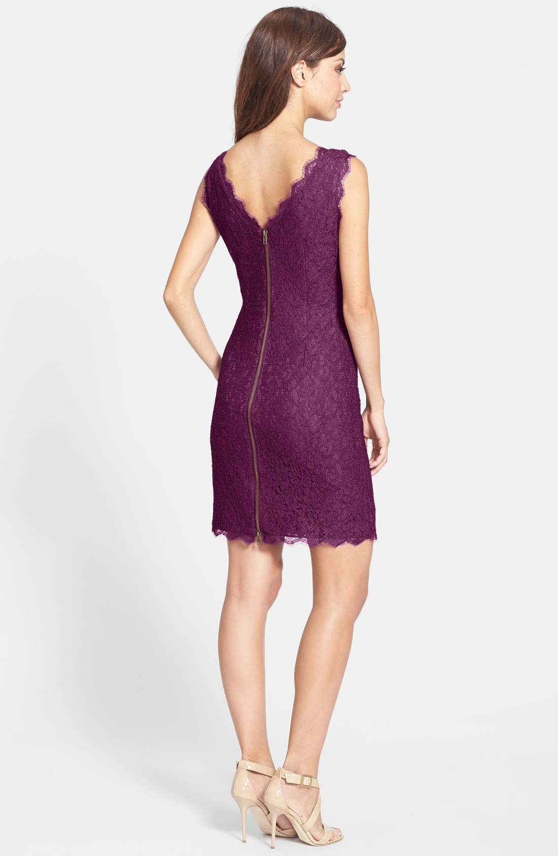 Boatneck Lace Sheath Dress,                             Alternate thumbnail 62, color,