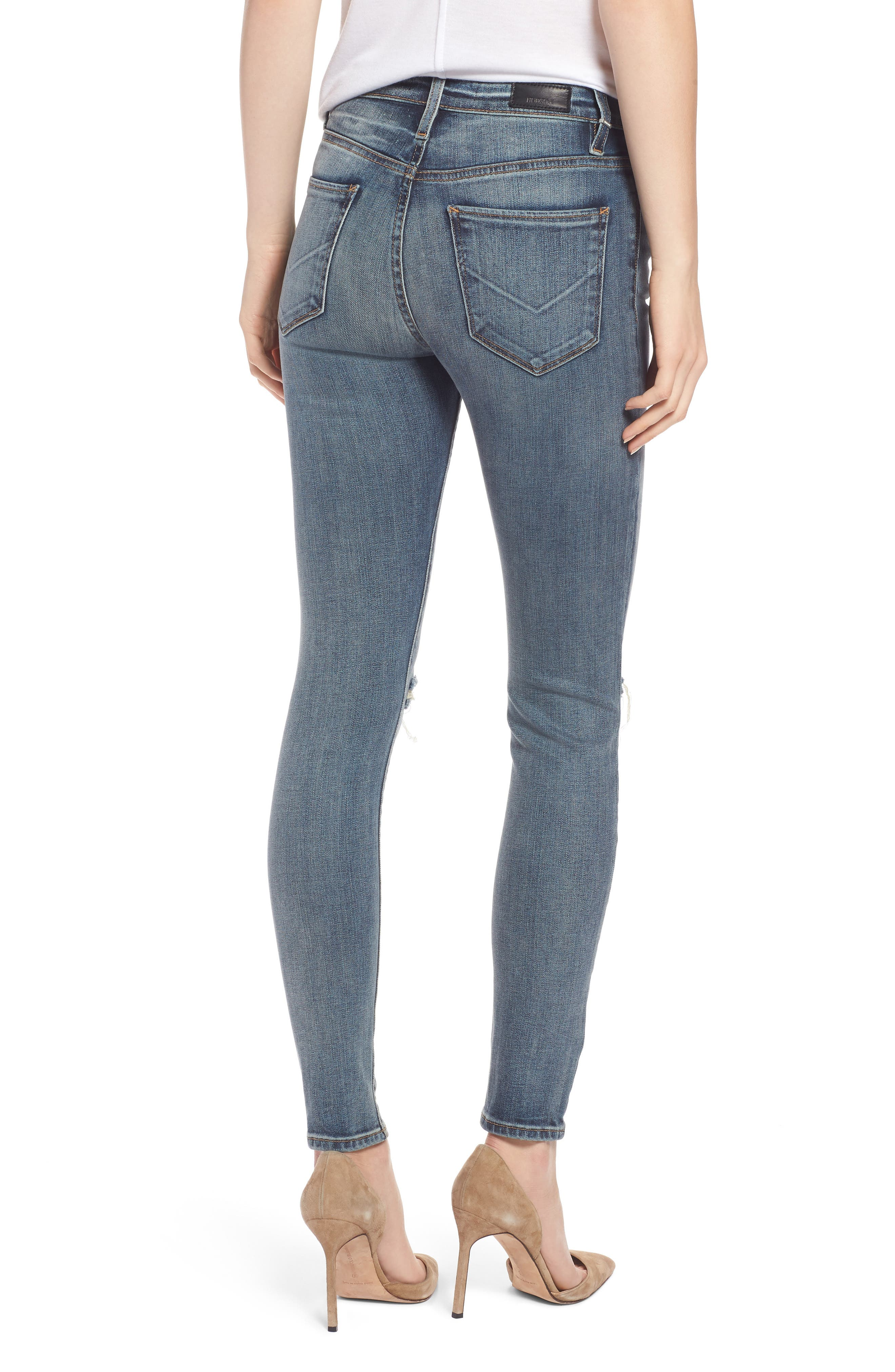 Barbara High Waist Super Skinny Jeans,                             Alternate thumbnail 2, color,                             420
