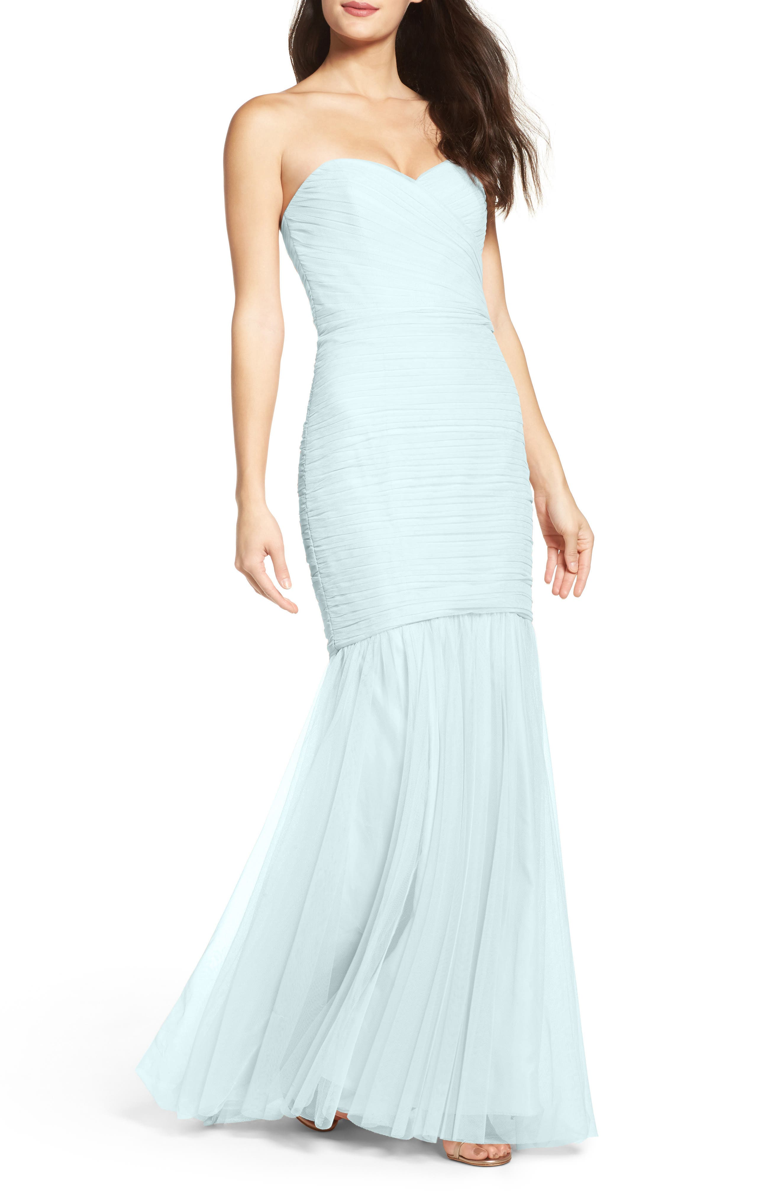 Strapless Crinkle Chiffon Gown,                             Alternate thumbnail 21, color,
