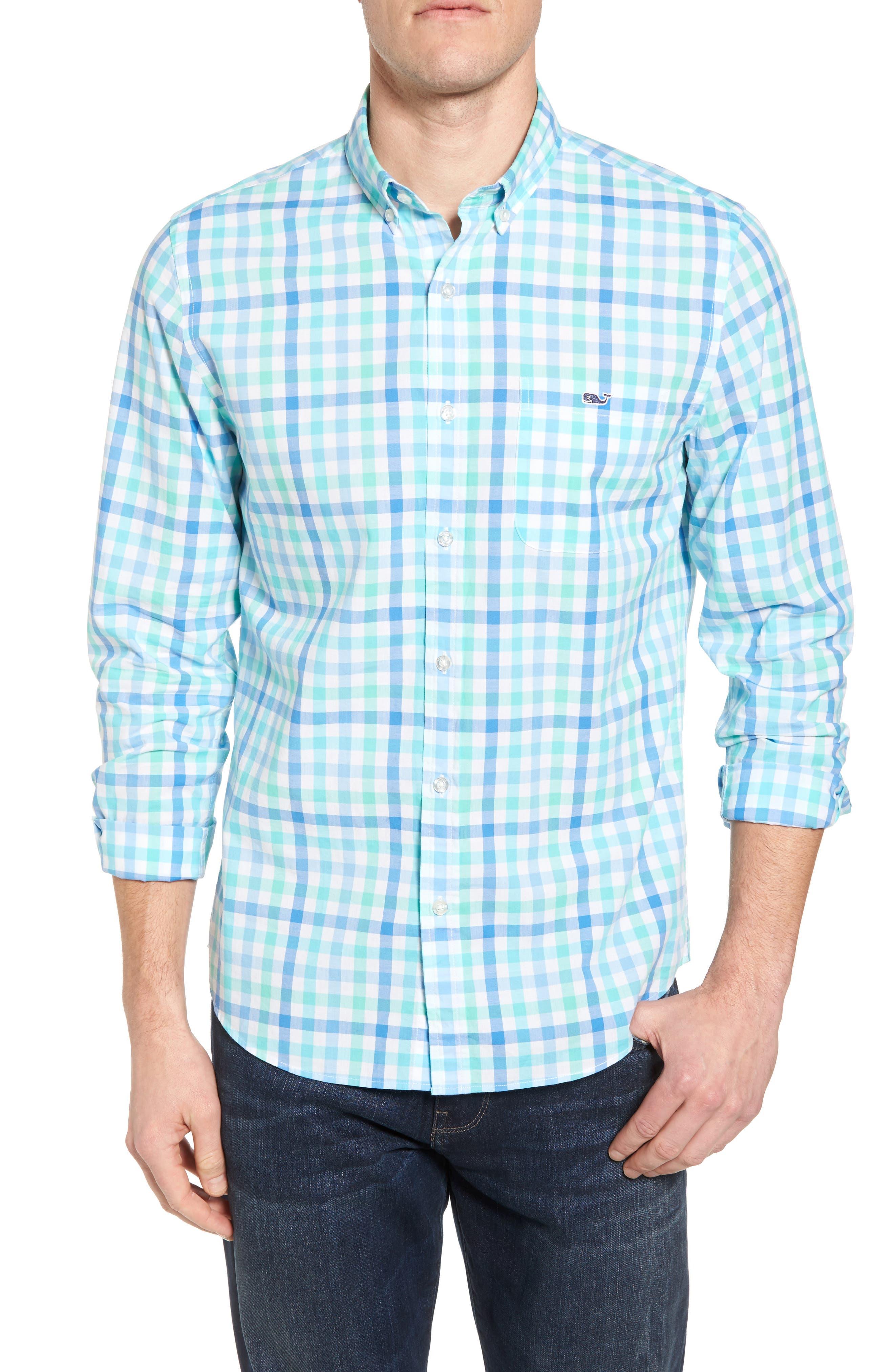 Eagles Nest Tucker Slim Fit Gingham Sport Shirt,                             Main thumbnail 1, color,
