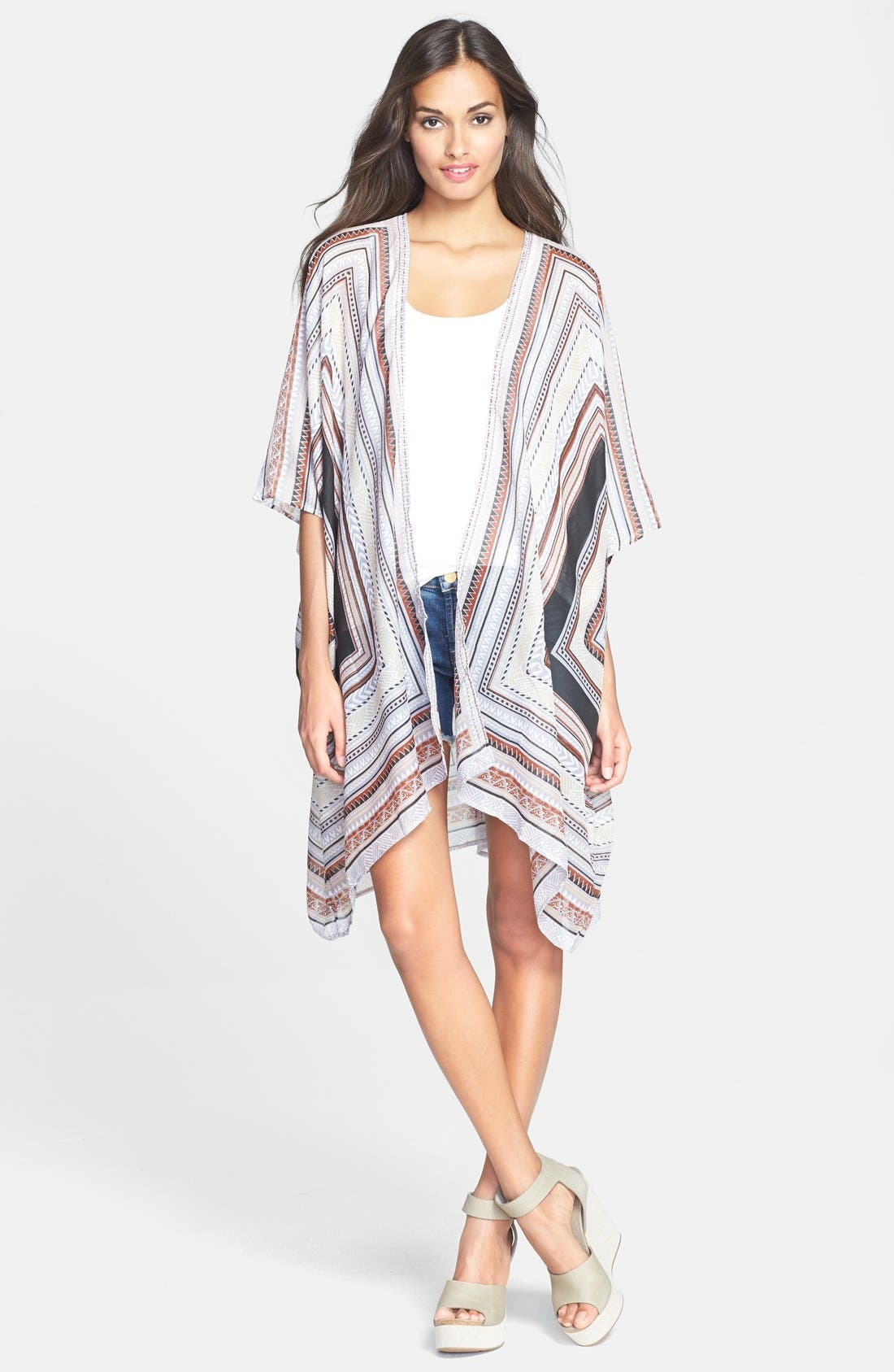 Oversized Print Cover-Up,                         Main,                         color, 001