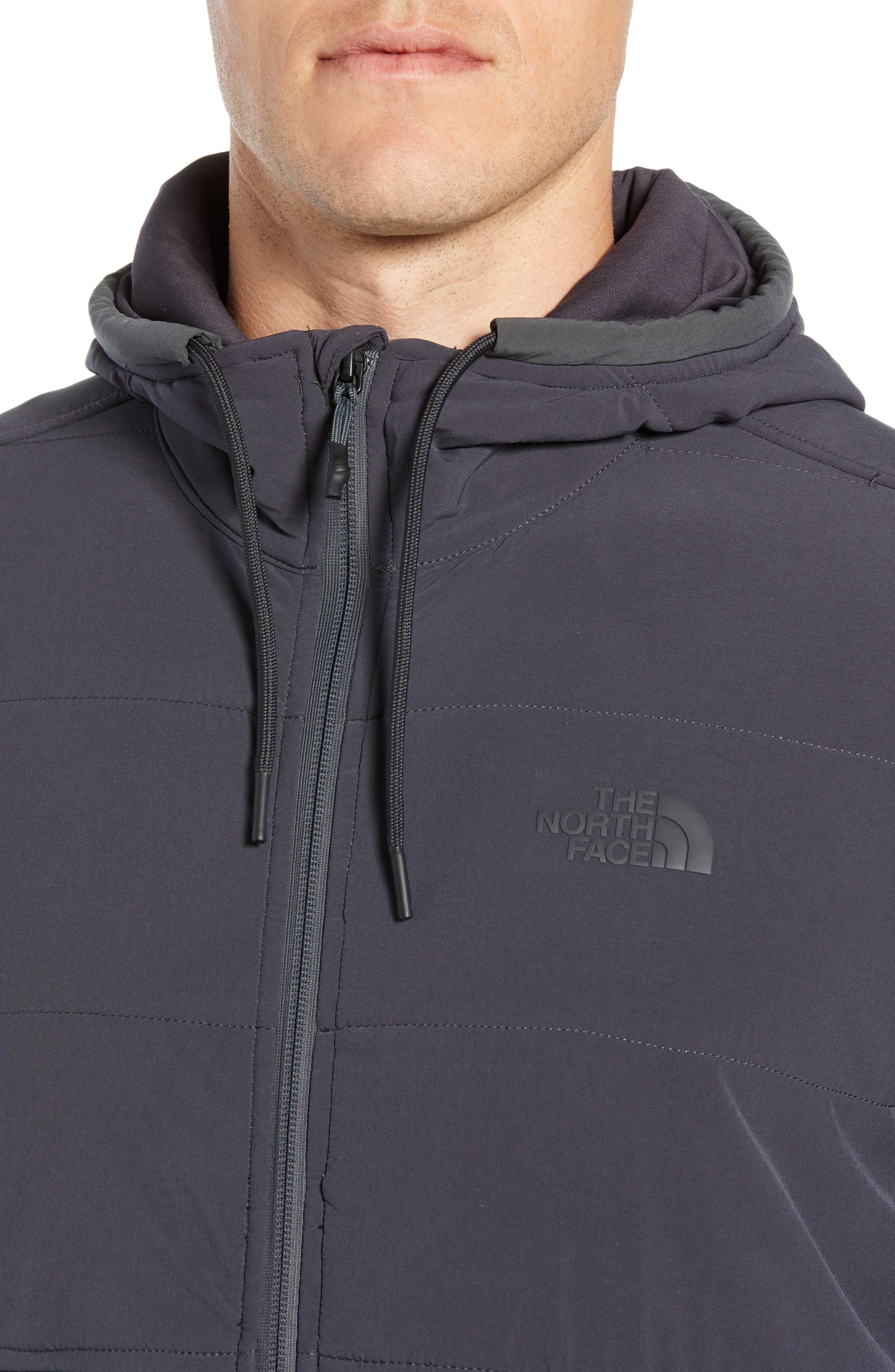 Mountain 2.0 Quilted Zip Hoodie,                             Alternate thumbnail 4, color,                             WEATHERED BLACK