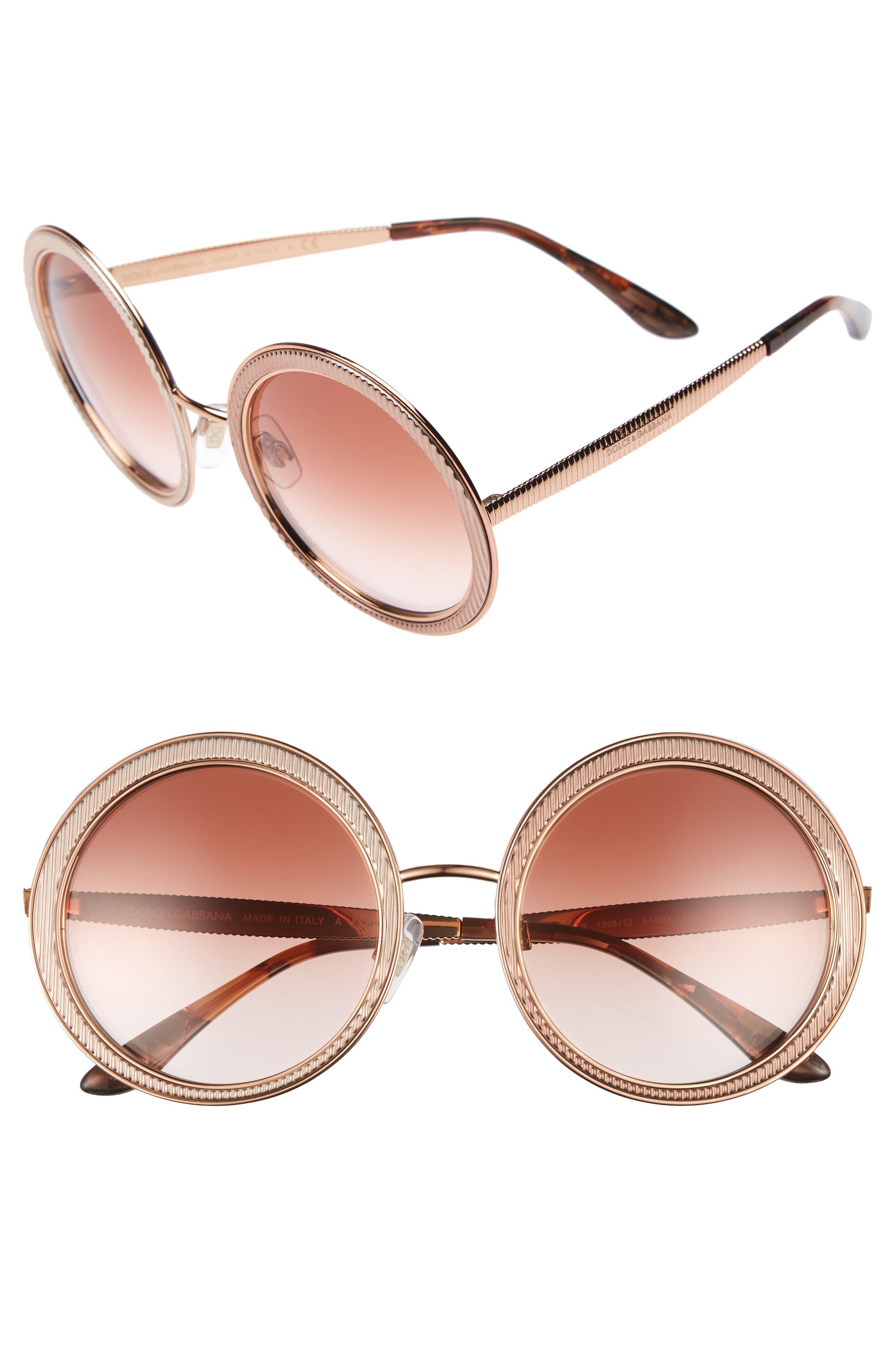 54mm Gradient Round Sunglasses,                             Main thumbnail 2, color,