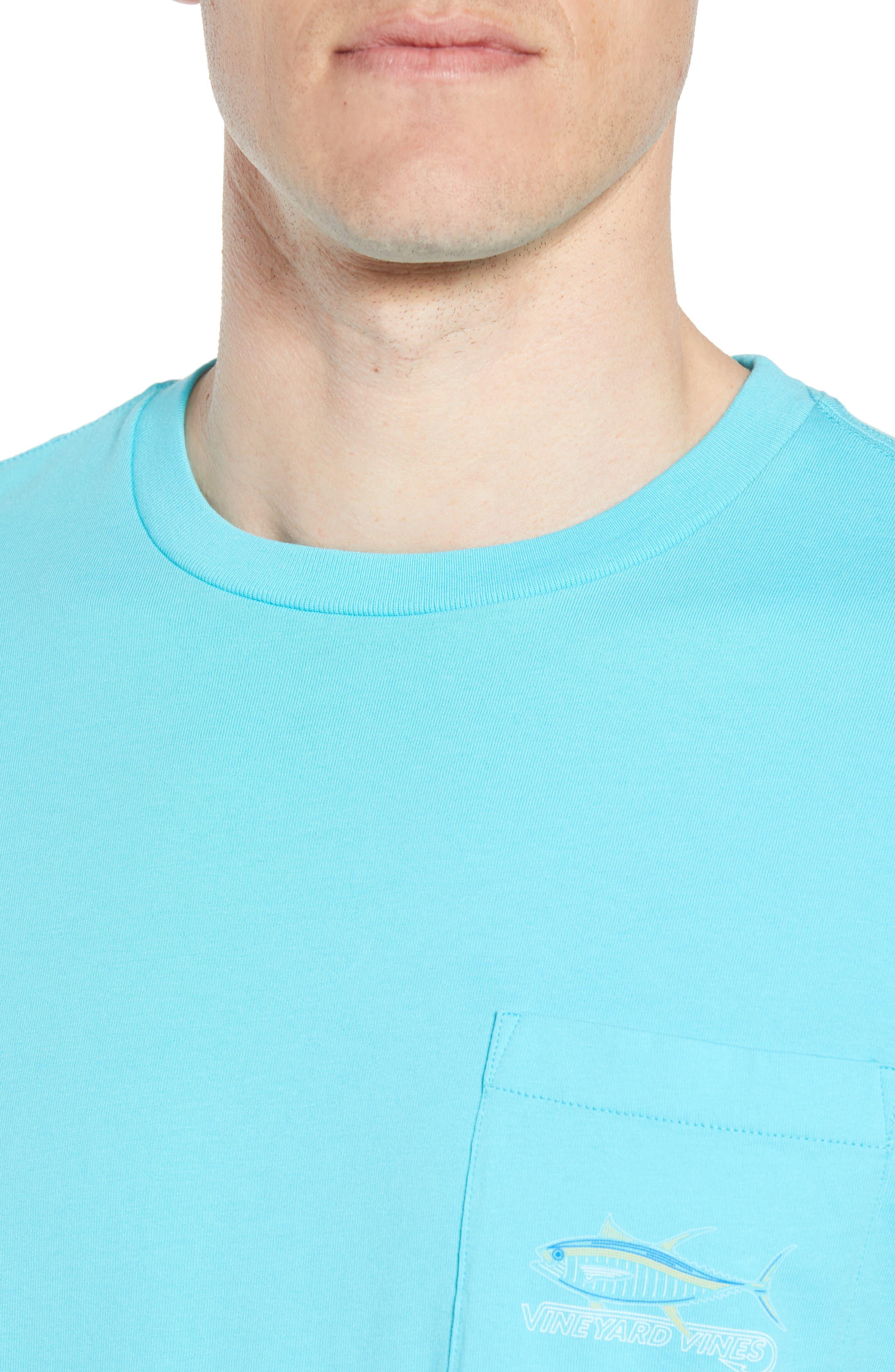 Tuna Hook Regular Fit Crewneck T-Shirt,                             Alternate thumbnail 4, color,