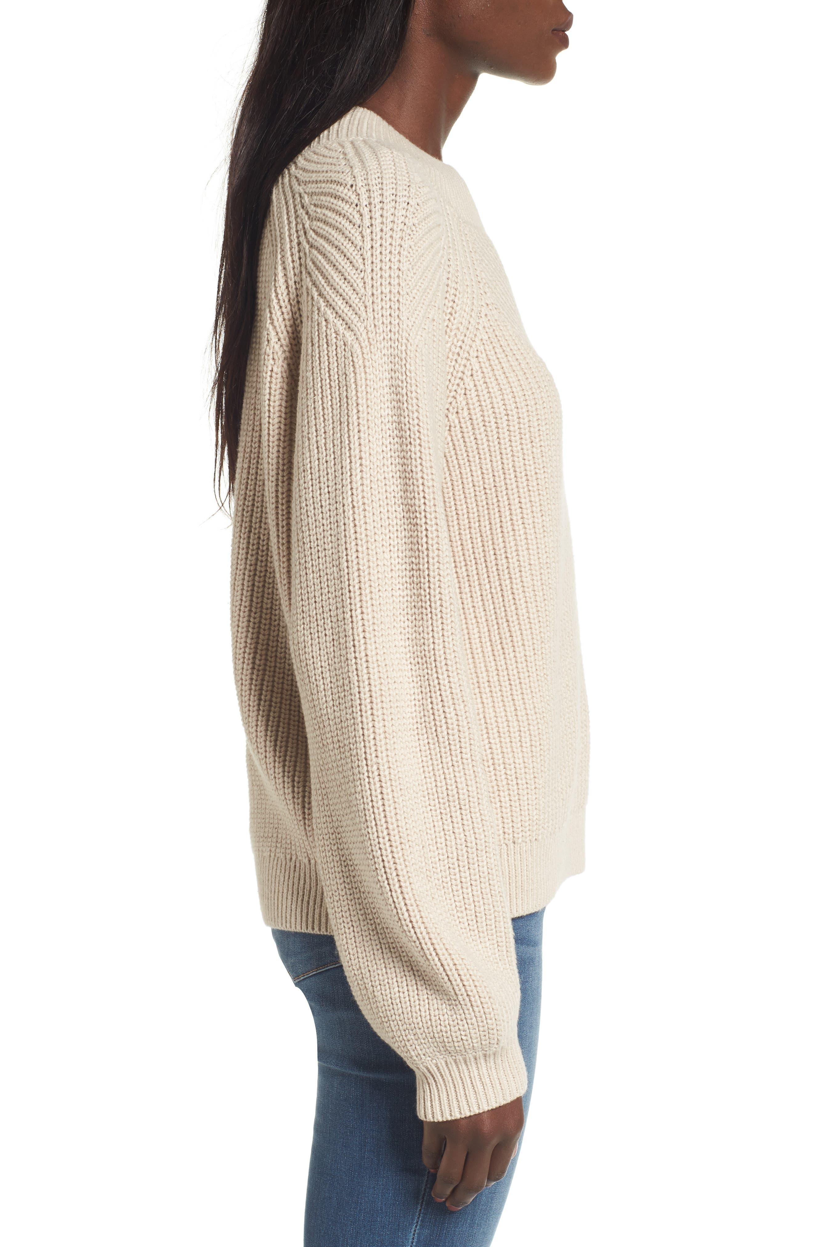 Shaker Stitch Sweater,                             Alternate thumbnail 3, color,                             270