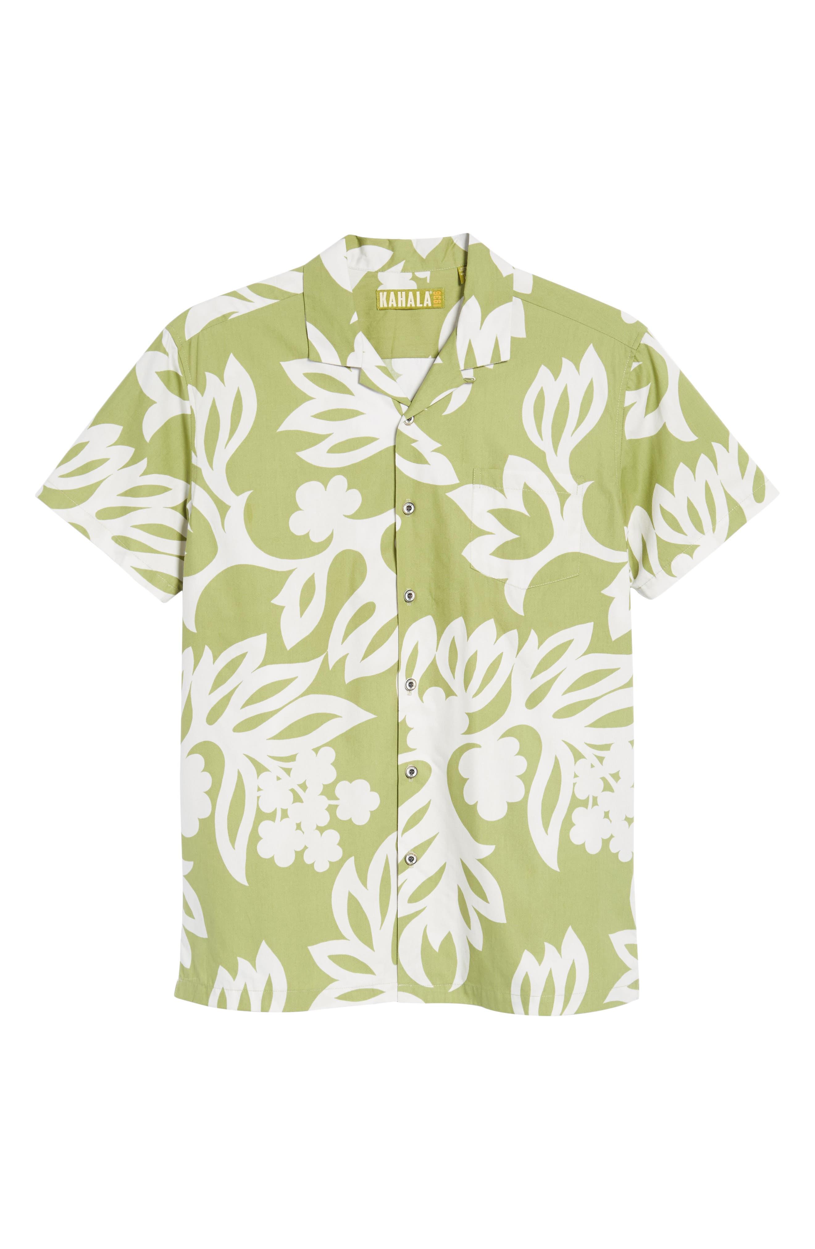 Simple Regular Fit Camp Shirt,                             Alternate thumbnail 6, color,                             335