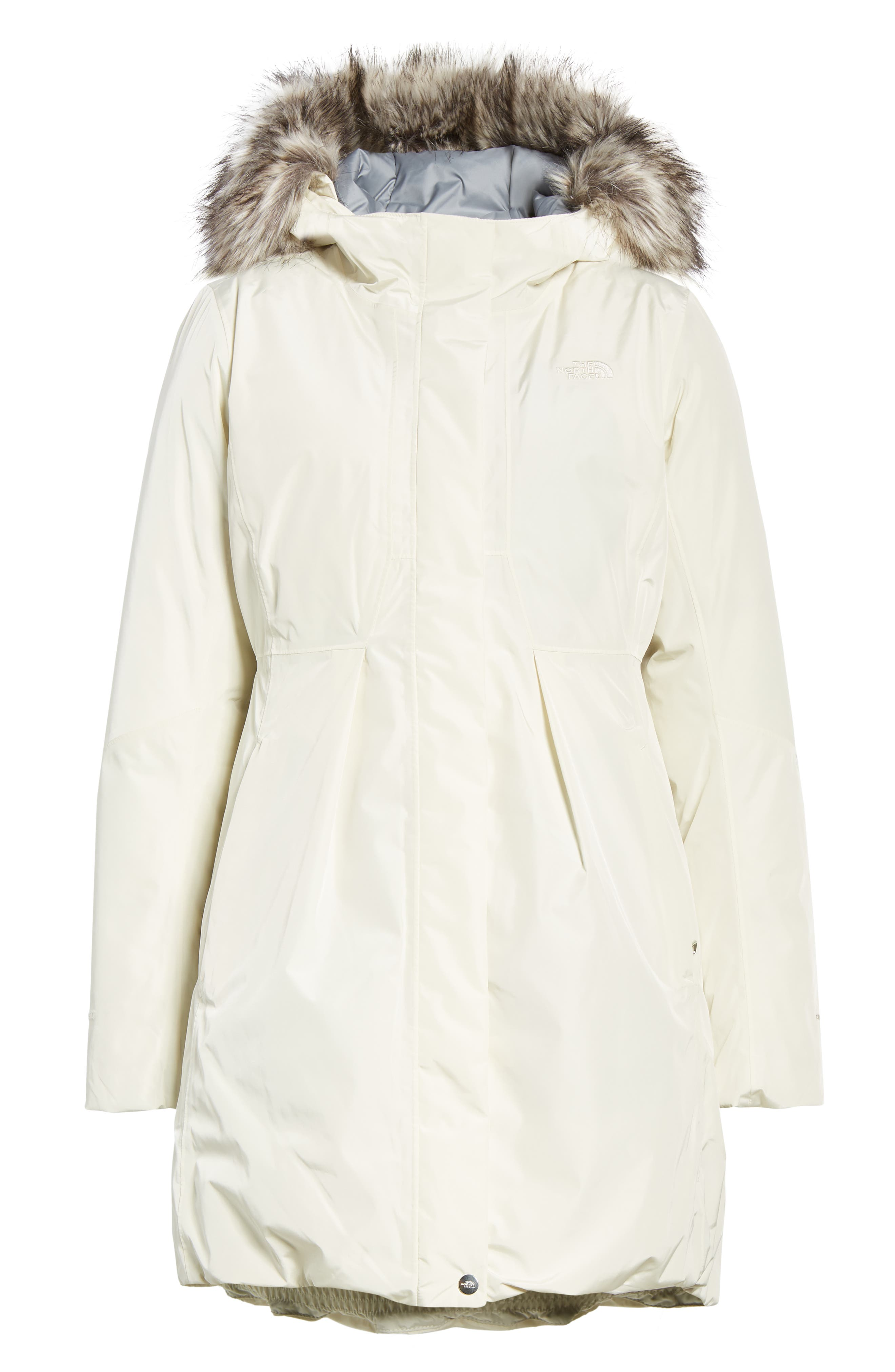 THE NORTH FACE,                             Transarctic Mama Down Parka,                             Alternate thumbnail 6, color,                             VINTAGE WHITE