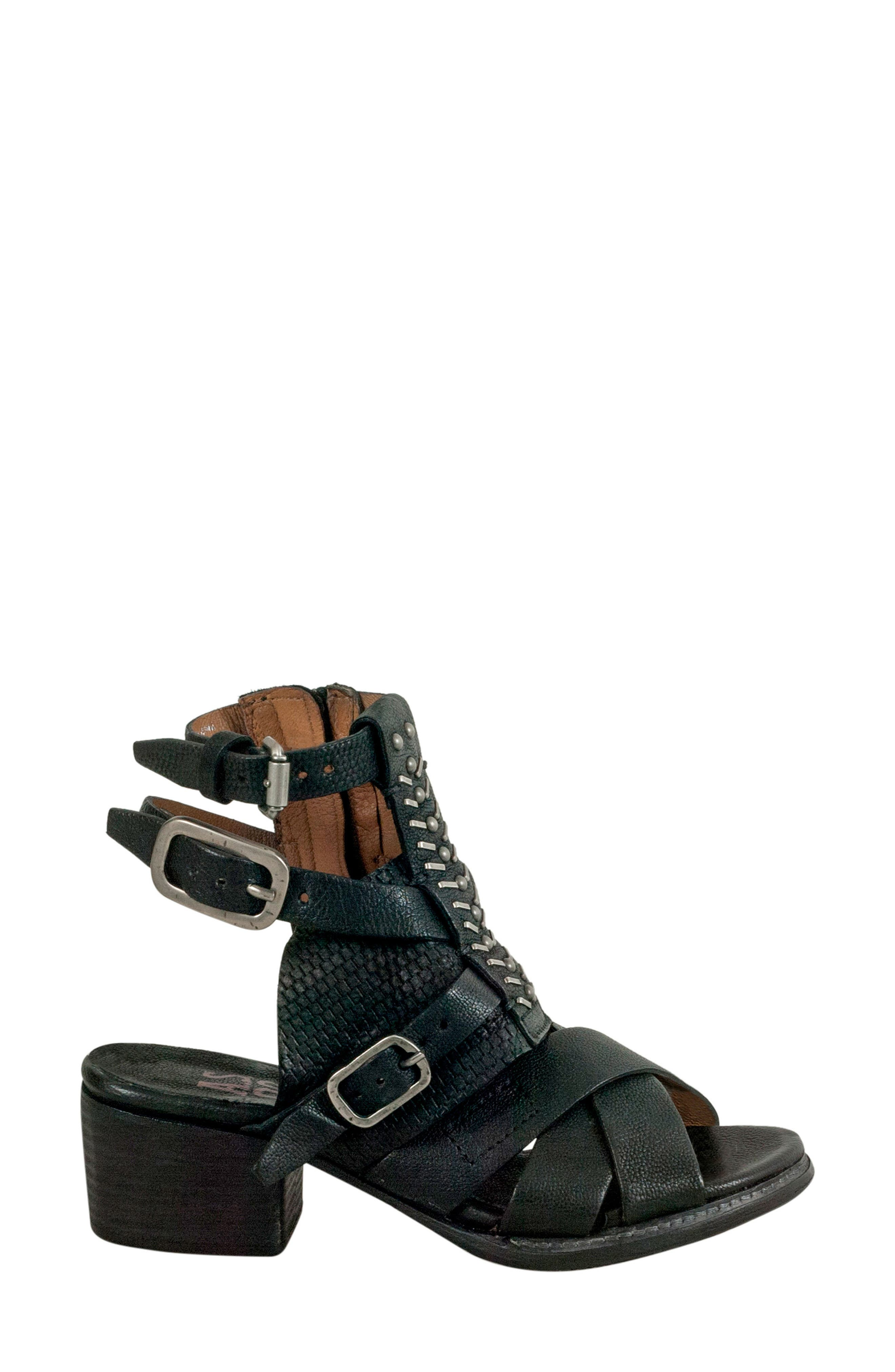 A.S.98,                             Pennie Gladiator Sandal,                             Alternate thumbnail 3, color,                             001