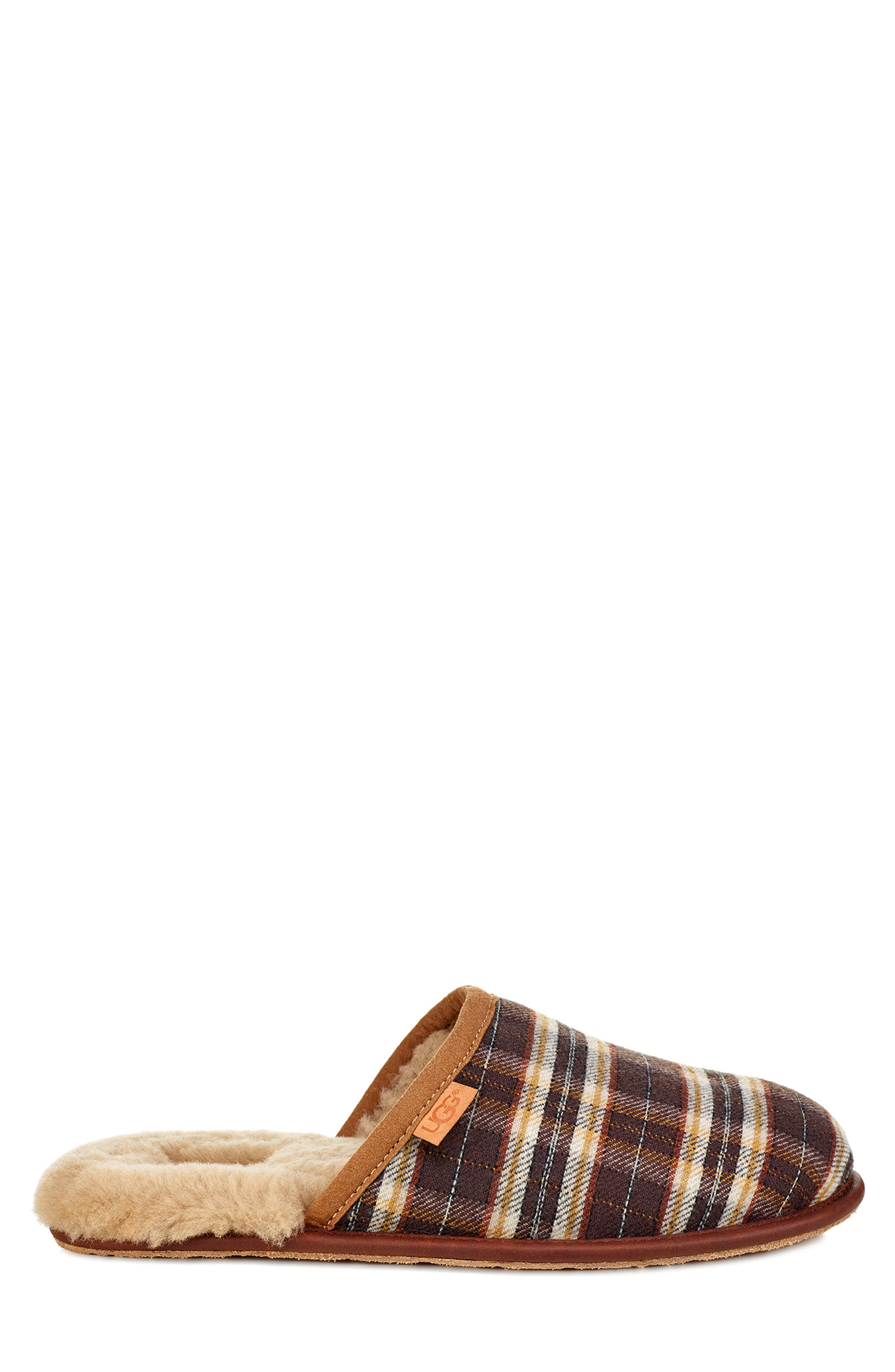 Scuff Slipper,                             Alternate thumbnail 3, color,                             CHESTNUT