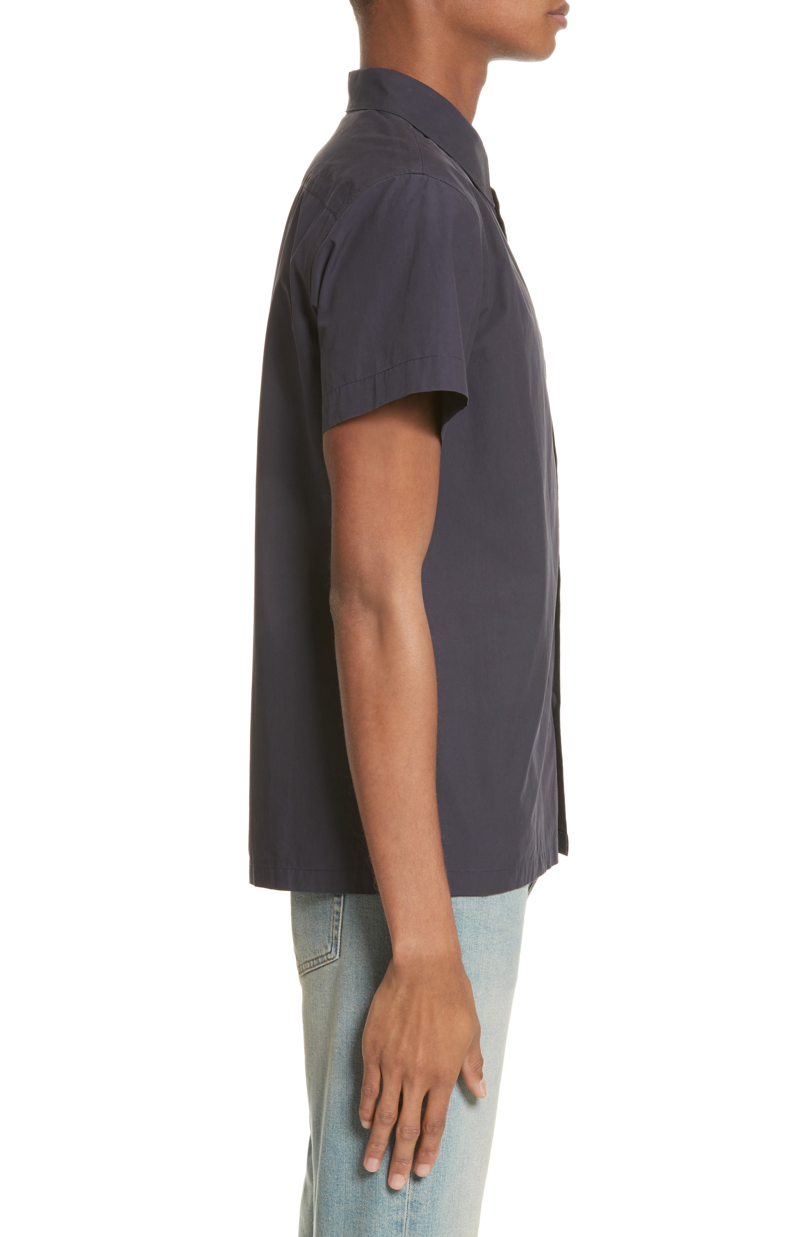 Cippi Poplin Woven Shirt,                             Alternate thumbnail 3, color,                             410