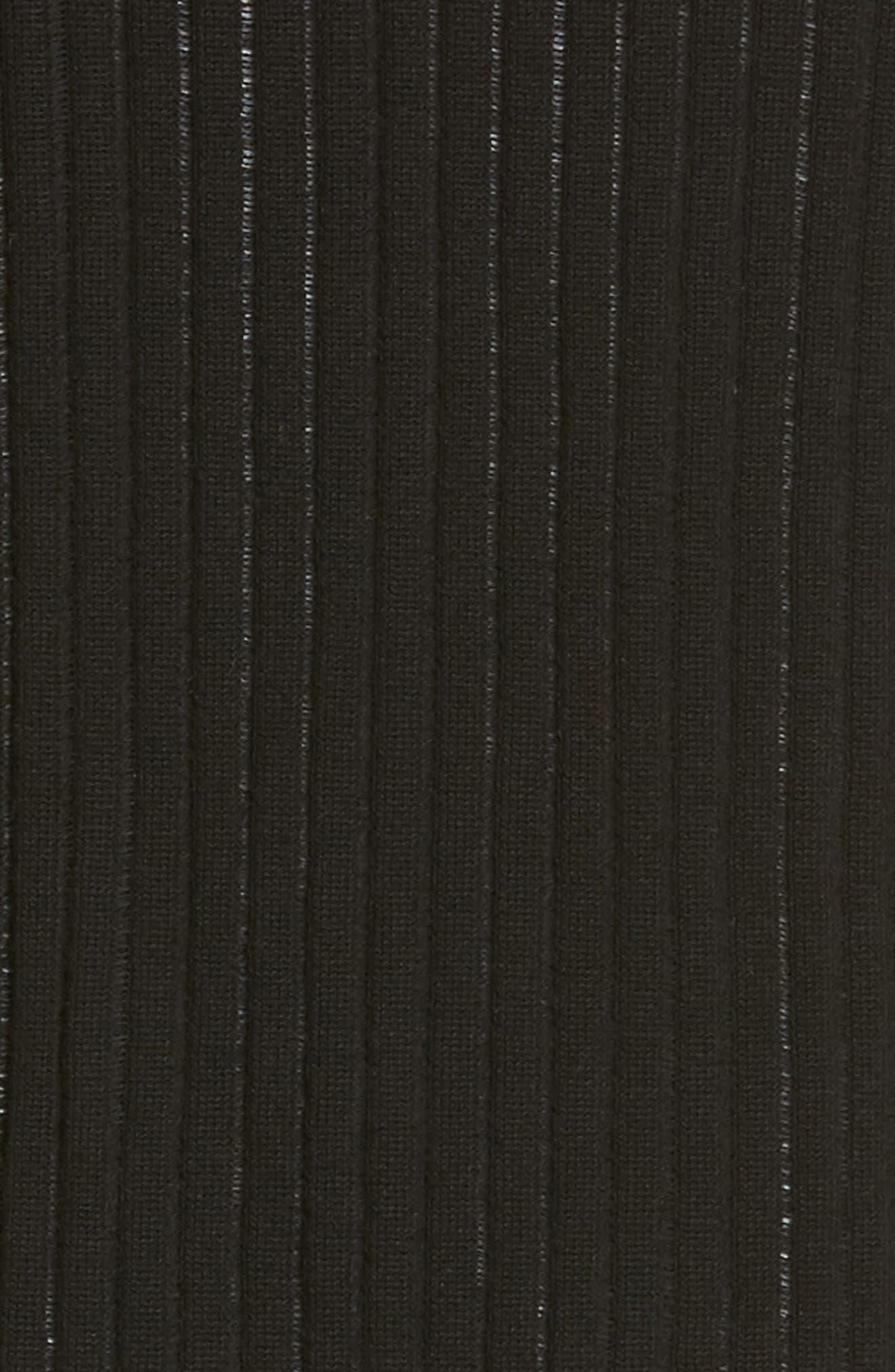 Long Ribbed Cardigan,                             Alternate thumbnail 5, color,                             006