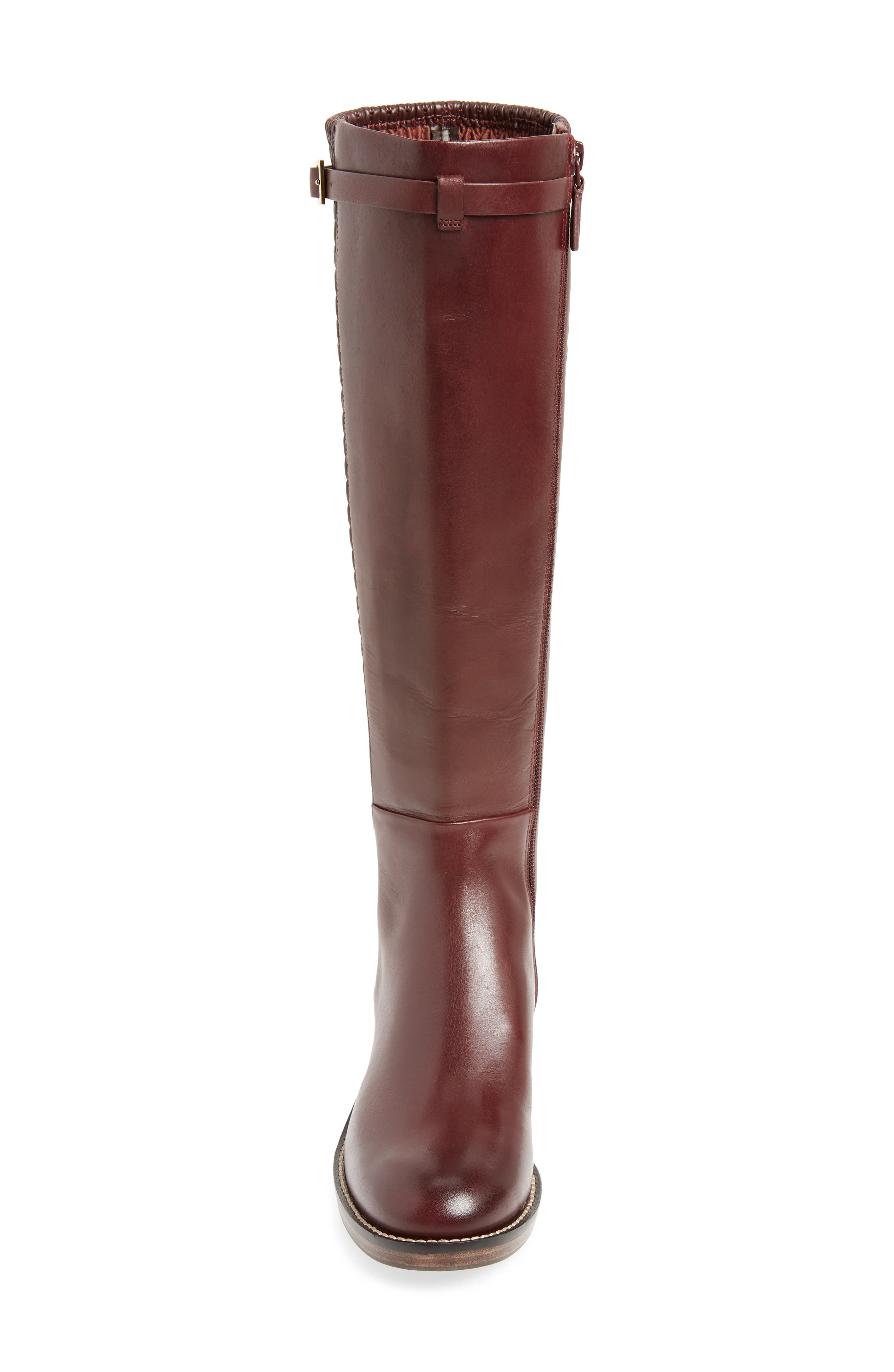 Lexi Grand Knee High Stretch Boot,                             Alternate thumbnail 4, color,                             CORDOVAN LEATHER