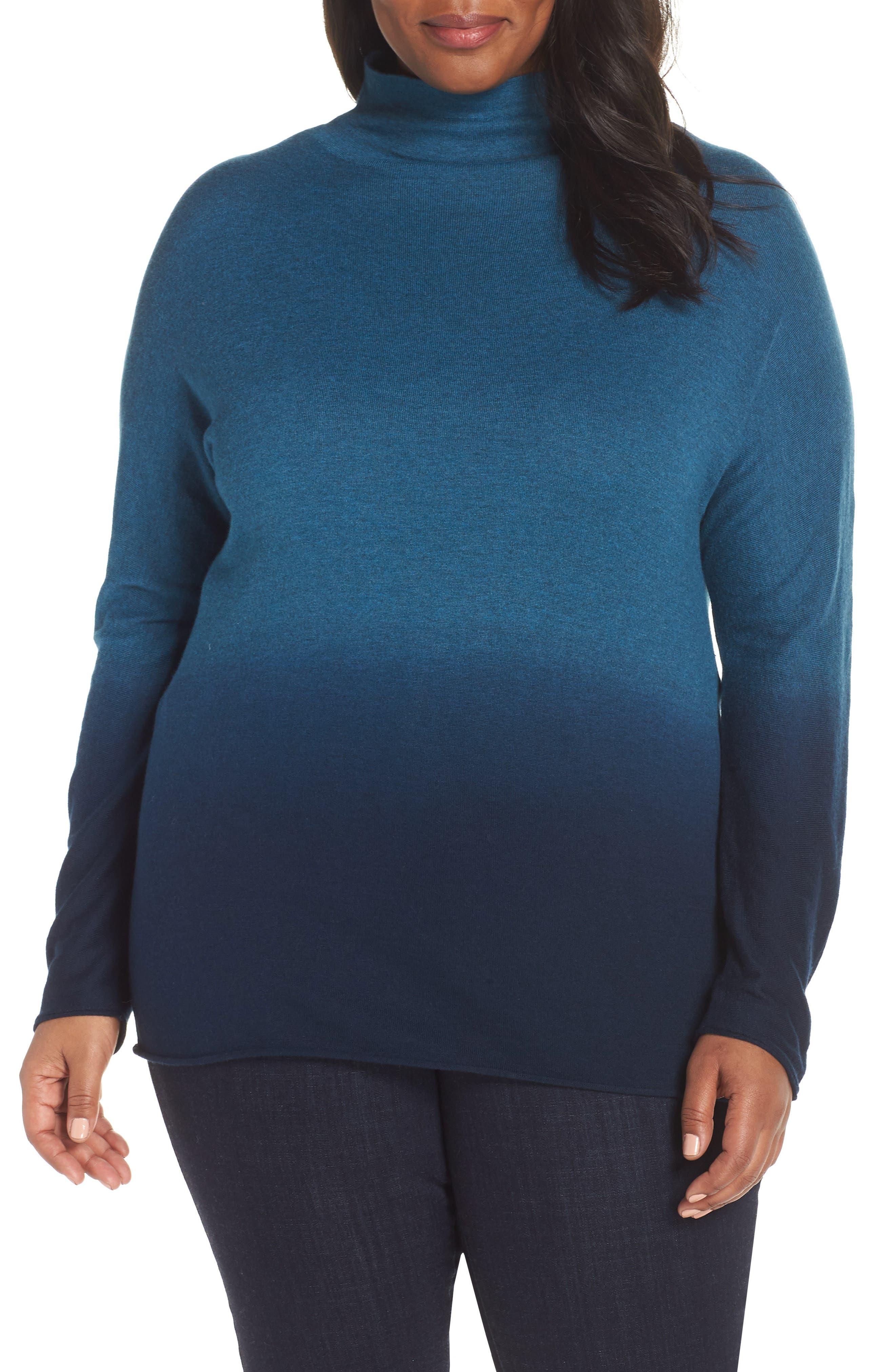 Traveler Funnel Neck Sweater in Beryl