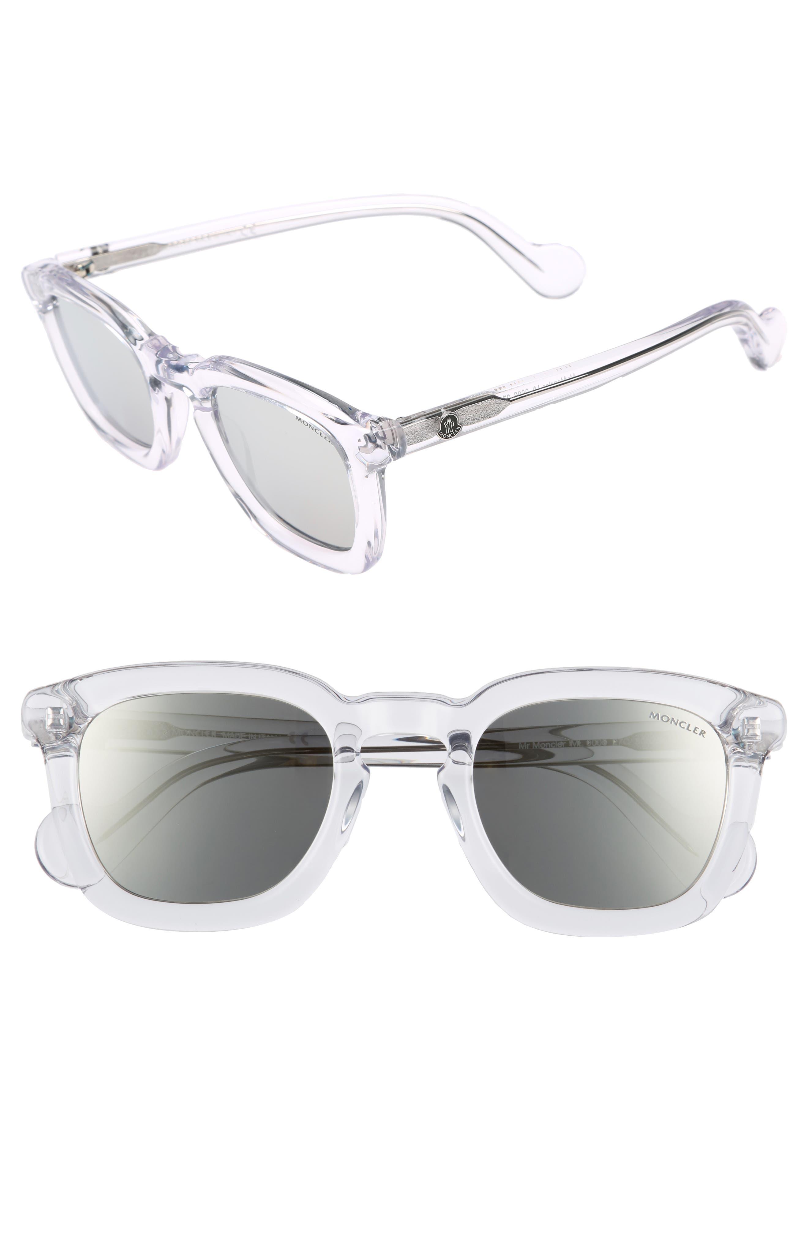 50mm Square Sunglasses,                             Main thumbnail 3, color,