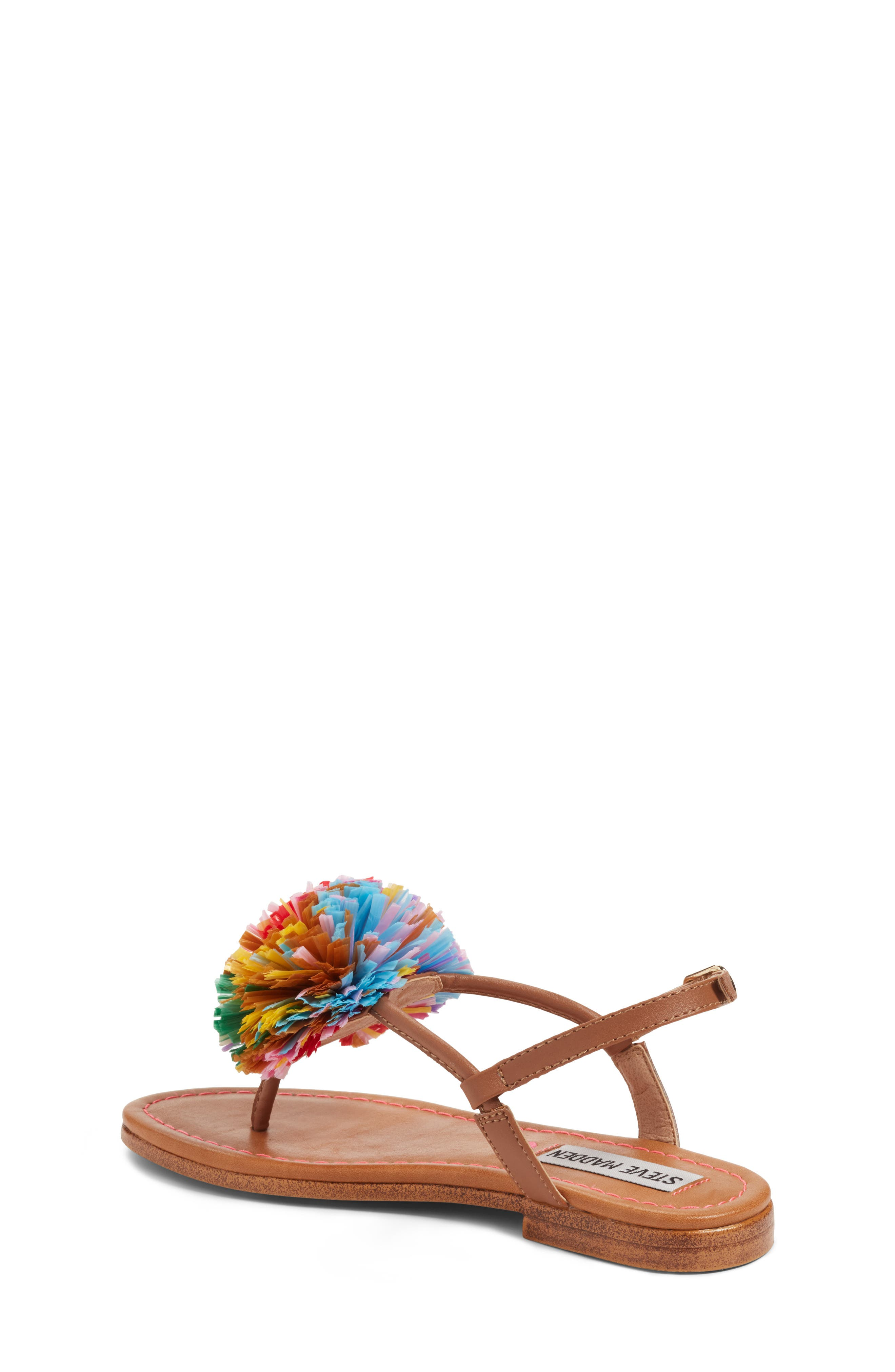 JCherry Pompom Sandal,                             Alternate thumbnail 2, color,
