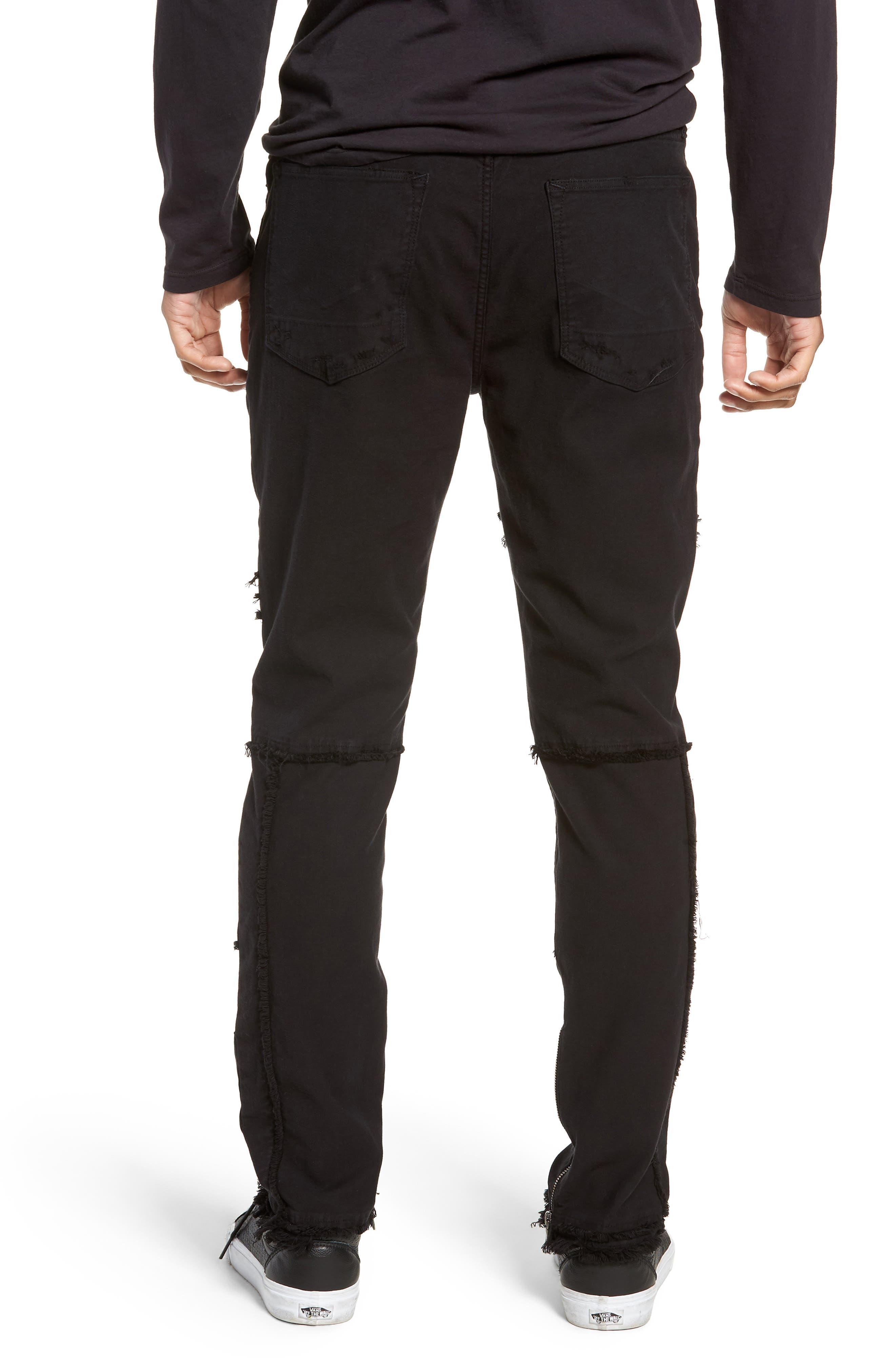Vaughn Moto Skinny Fit Jeans,                             Alternate thumbnail 2, color,                             FARRELL