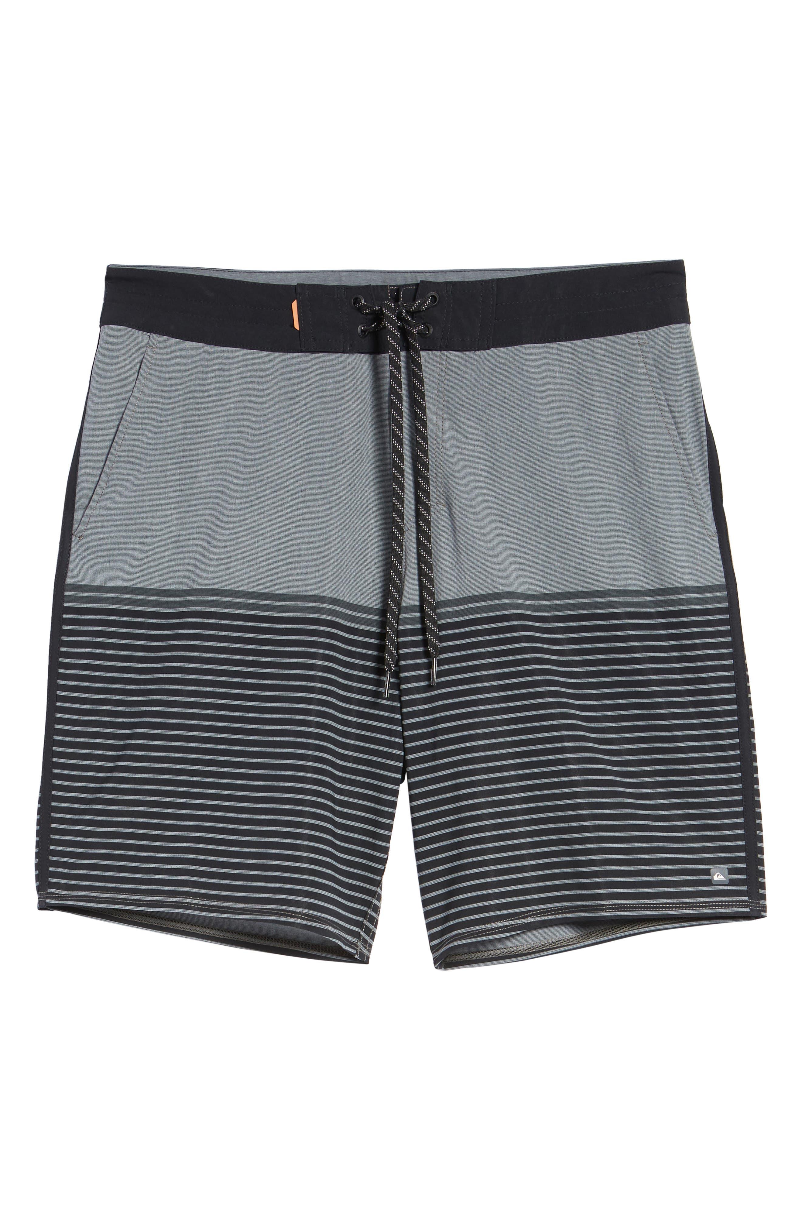 Liberty Stripe Board Shorts,                             Alternate thumbnail 6, color,                             DARK SHADOW
