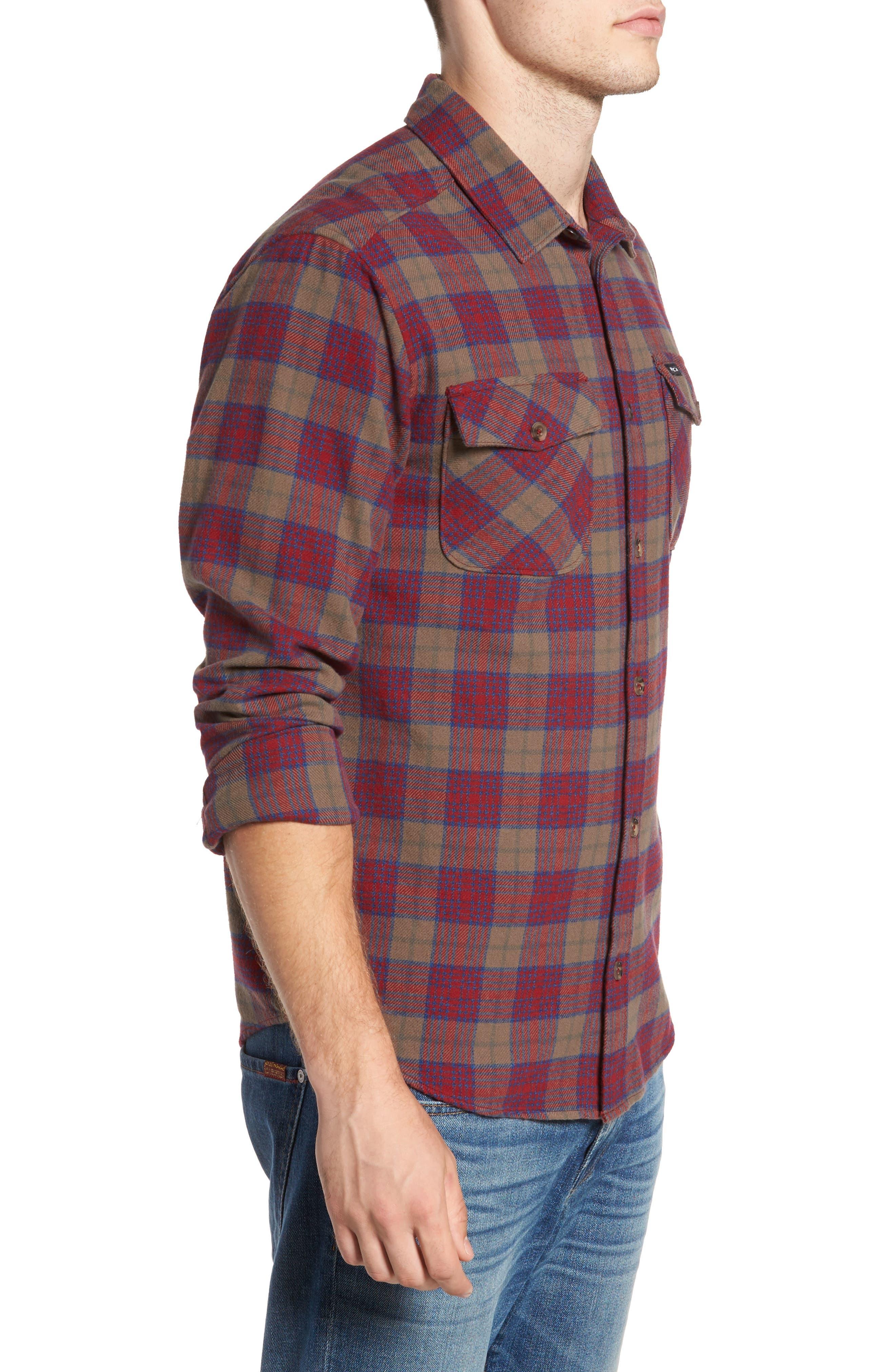 'That'll Work' Trim Fit Plaid Flannel Shirt,                             Alternate thumbnail 14, color,