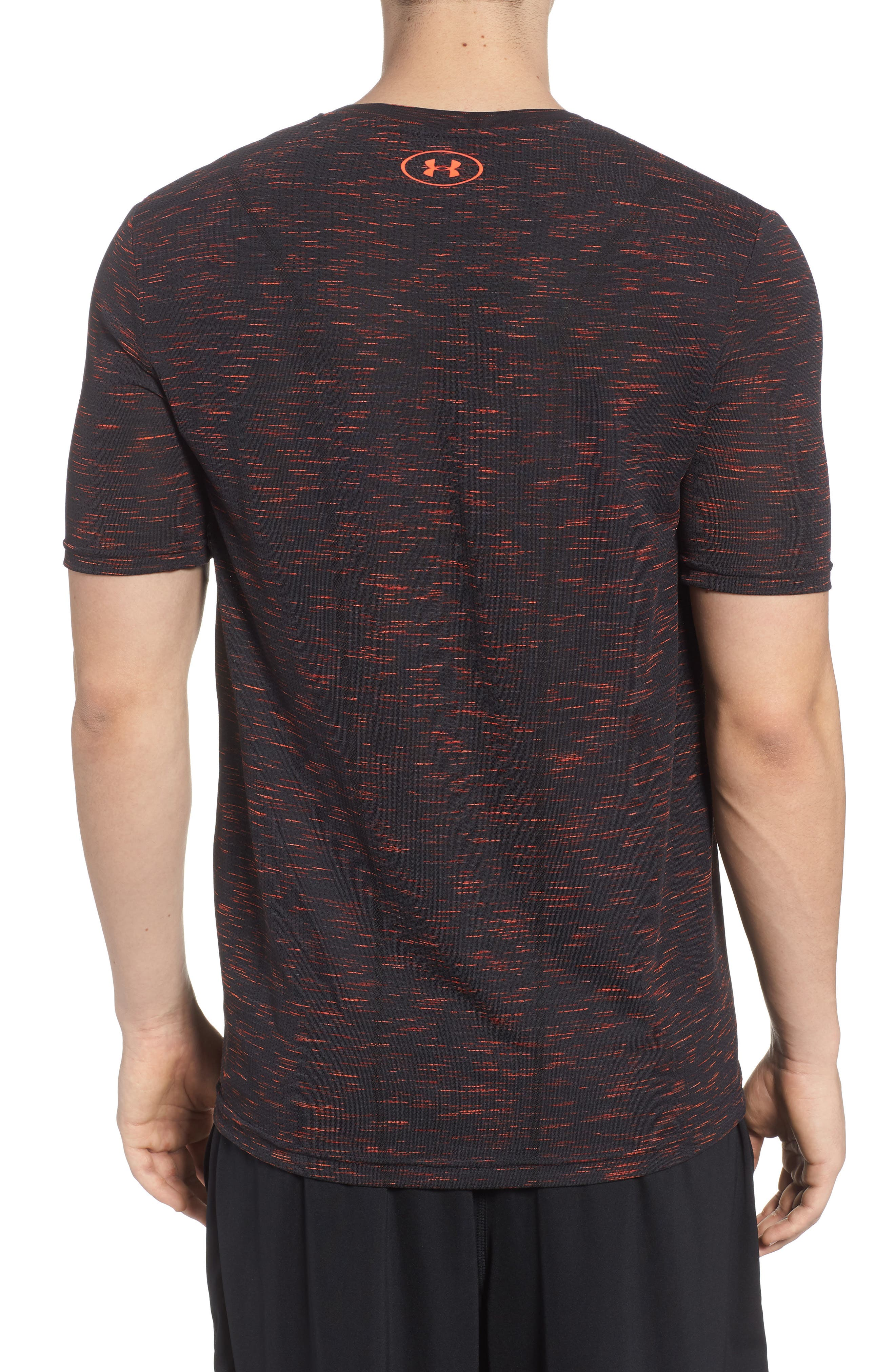 Threadborne Regular Fit T-Shirt,                             Alternate thumbnail 2, color,                             ANTHRACITE/ NEON CORAL
