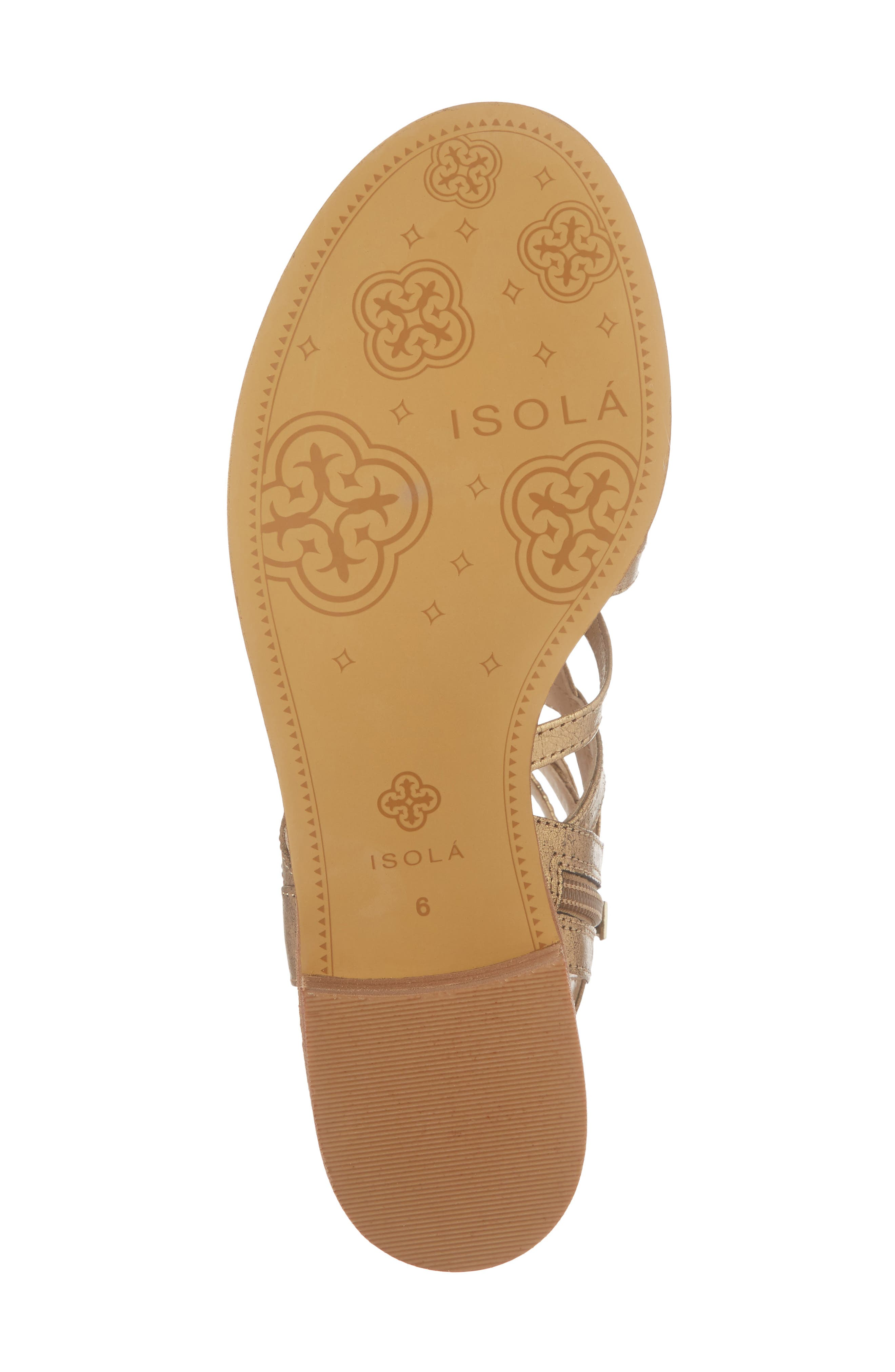 Genesis Cage Sandal,                             Alternate thumbnail 6, color,                             OLD GOLD LEATHER