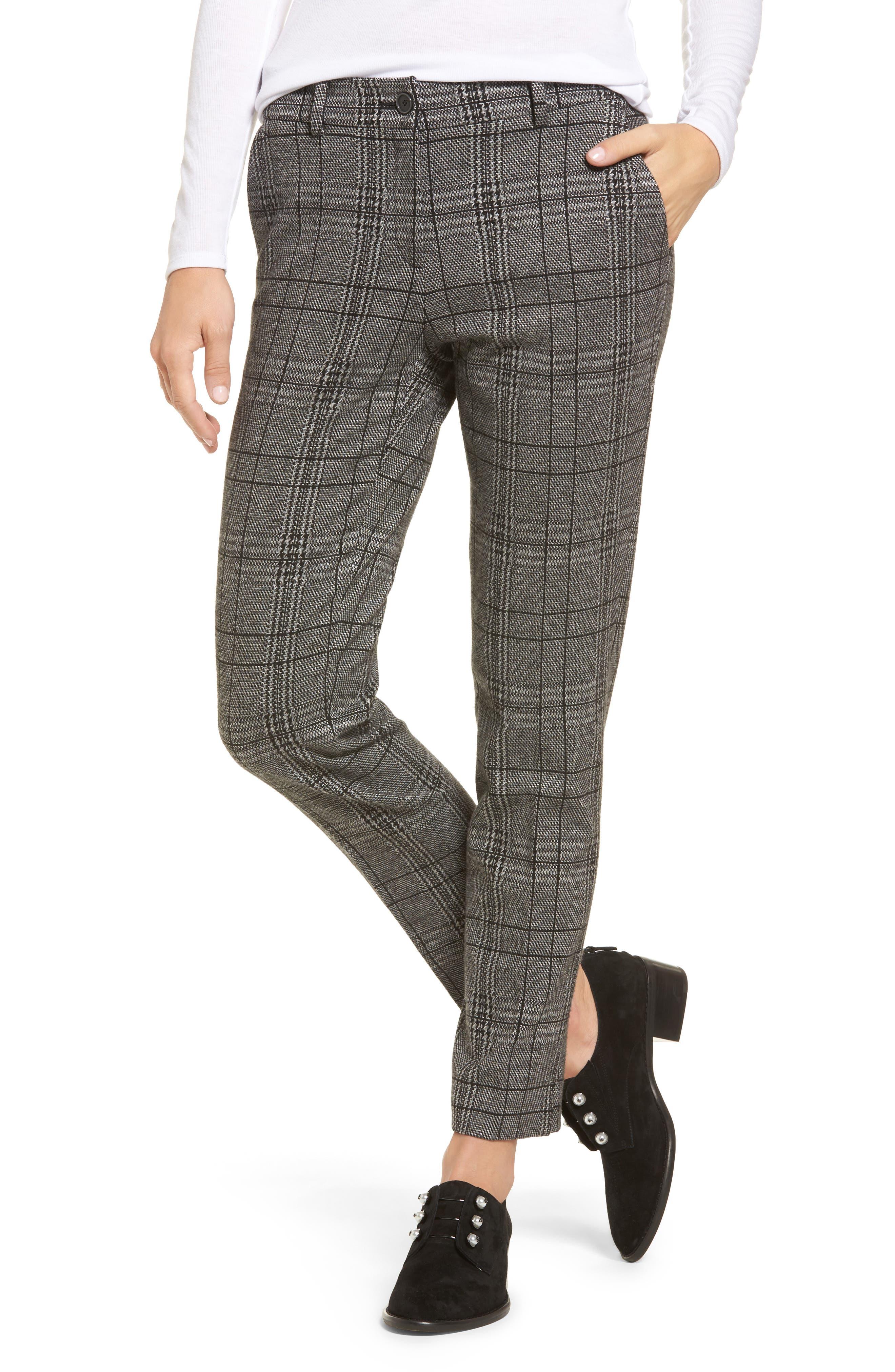 Check Plaid Trousers,                             Main thumbnail 1, color,                             002