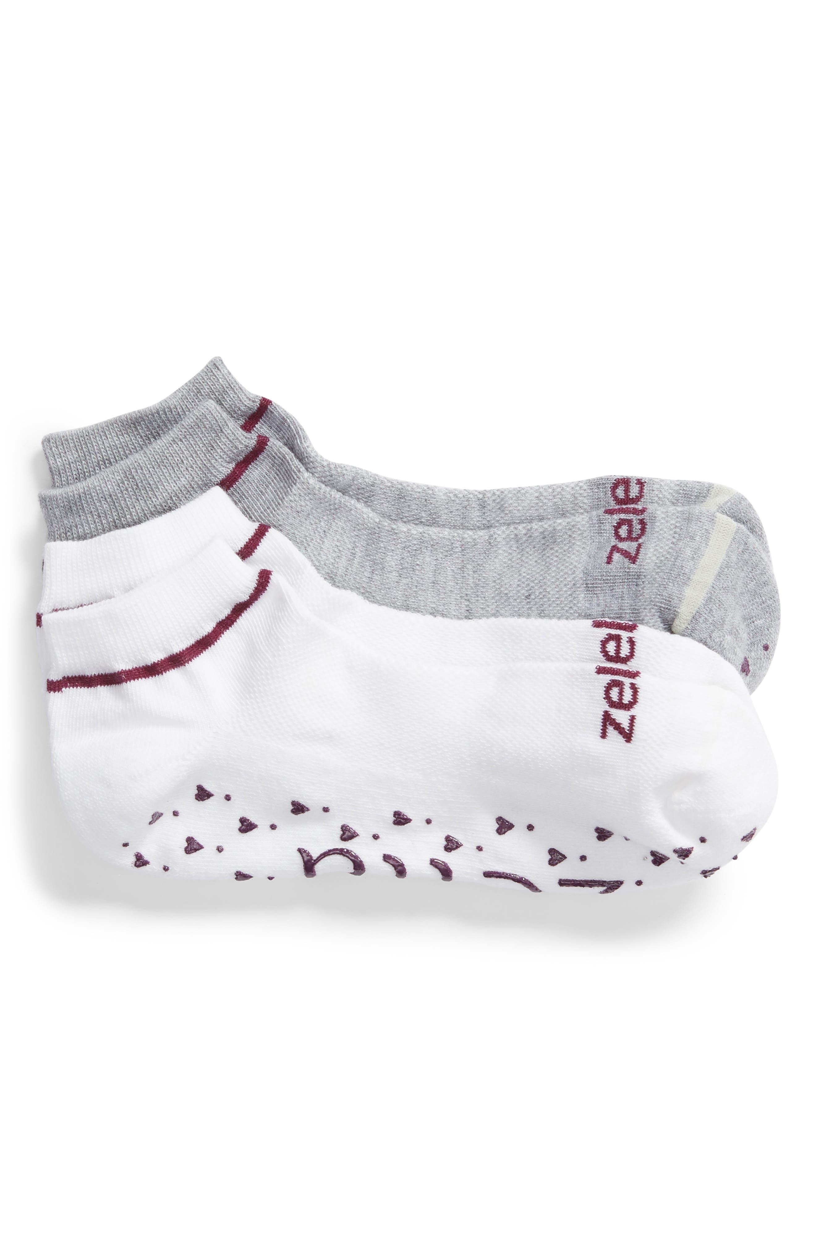 Zella 2-Pack Heart Barre Socks