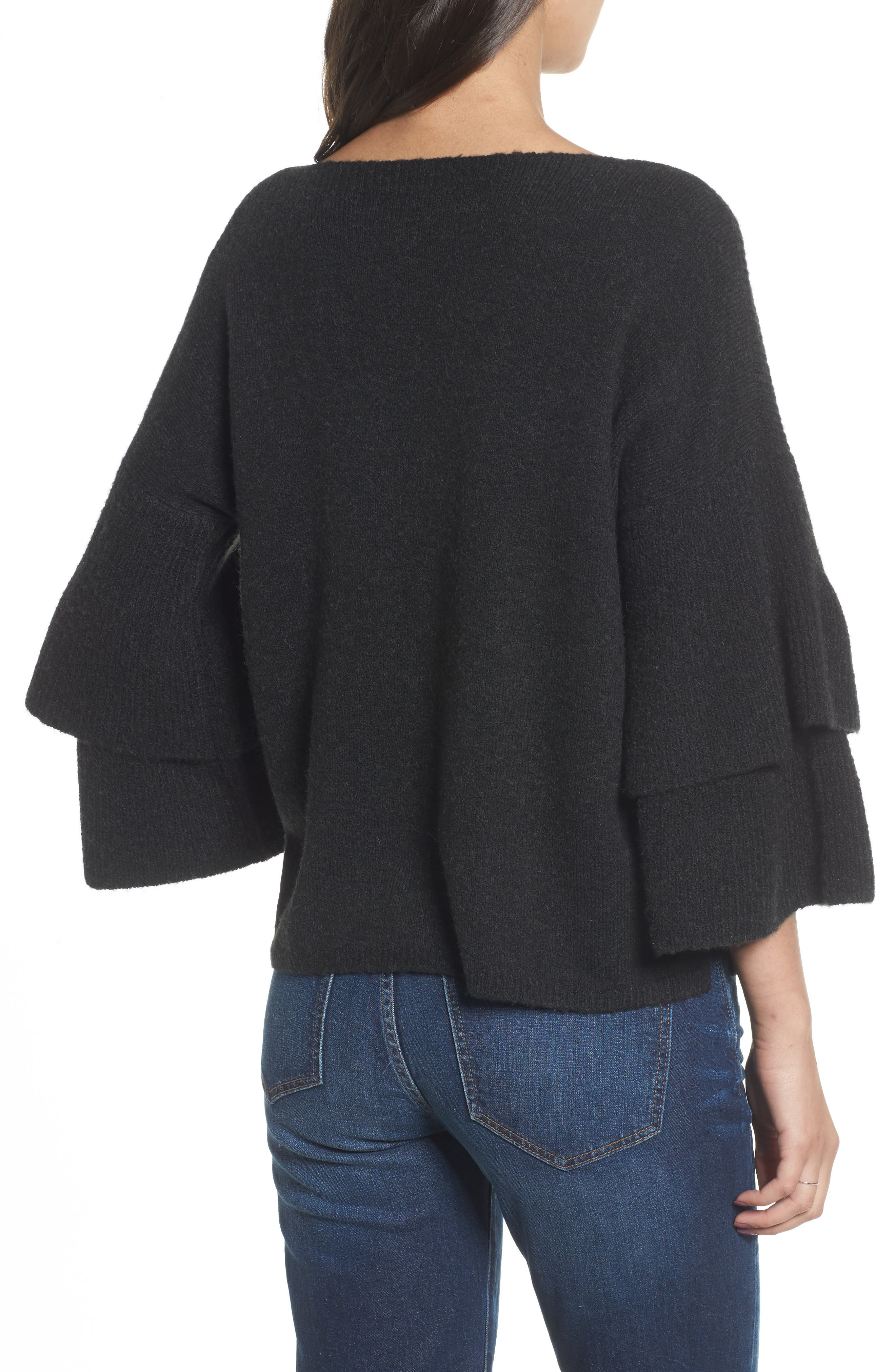 Tier Sleeve Sweater,                             Alternate thumbnail 4, color,