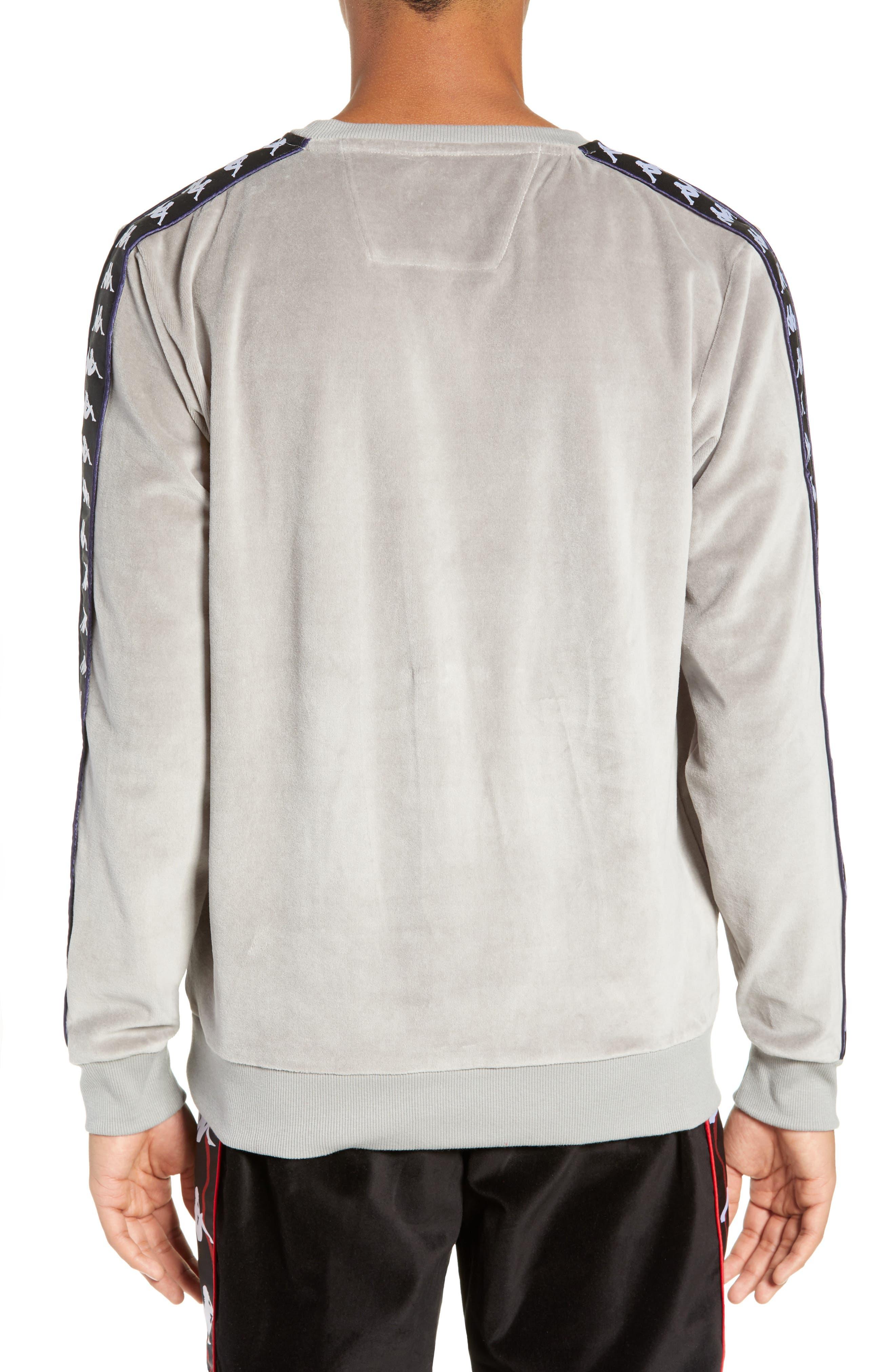 Authentic Aynset Velour Crewneck Sweatshirt,                             Alternate thumbnail 2, color,                             GREY MIST/ BLACK/ WHITE