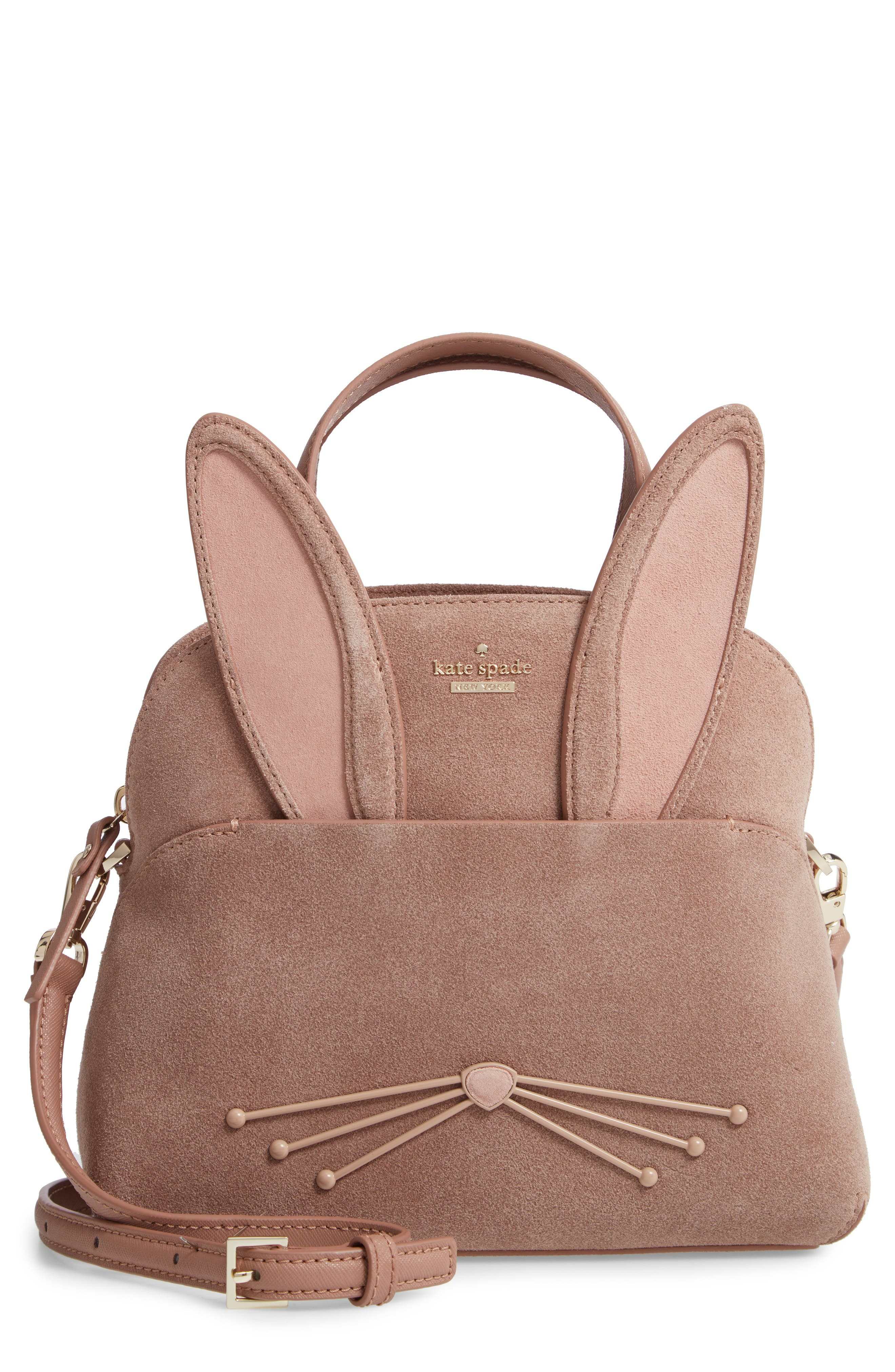 KATE SPADE NEW YORK desert muse rabbit small lotti bag, Main, color, 200