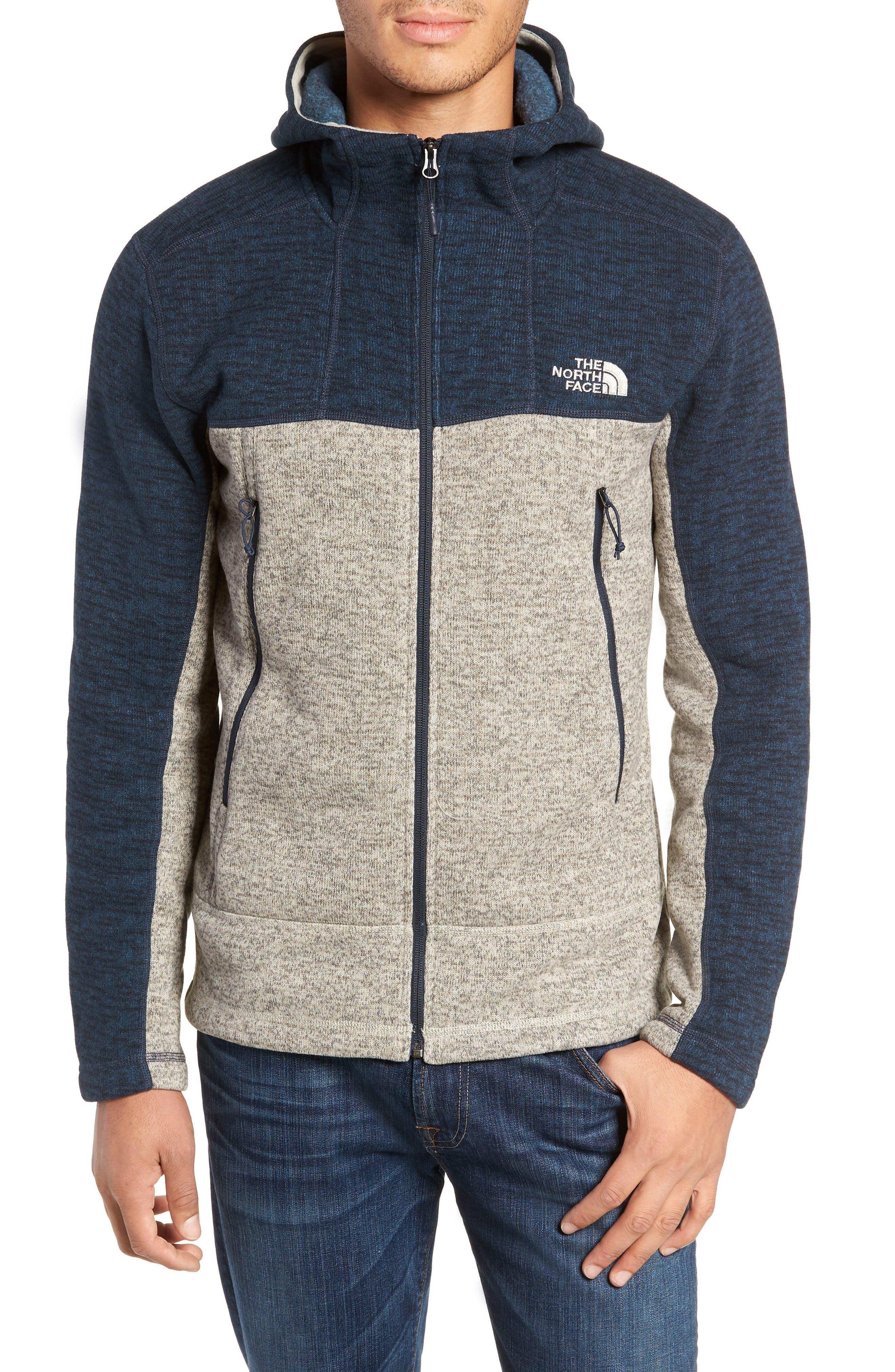 Gordon Lyons Alpine Sweater Fleece Hoodie,                             Alternate thumbnail 4, color,                             URBAN NAVY/ GRANITE BLUFF TAN