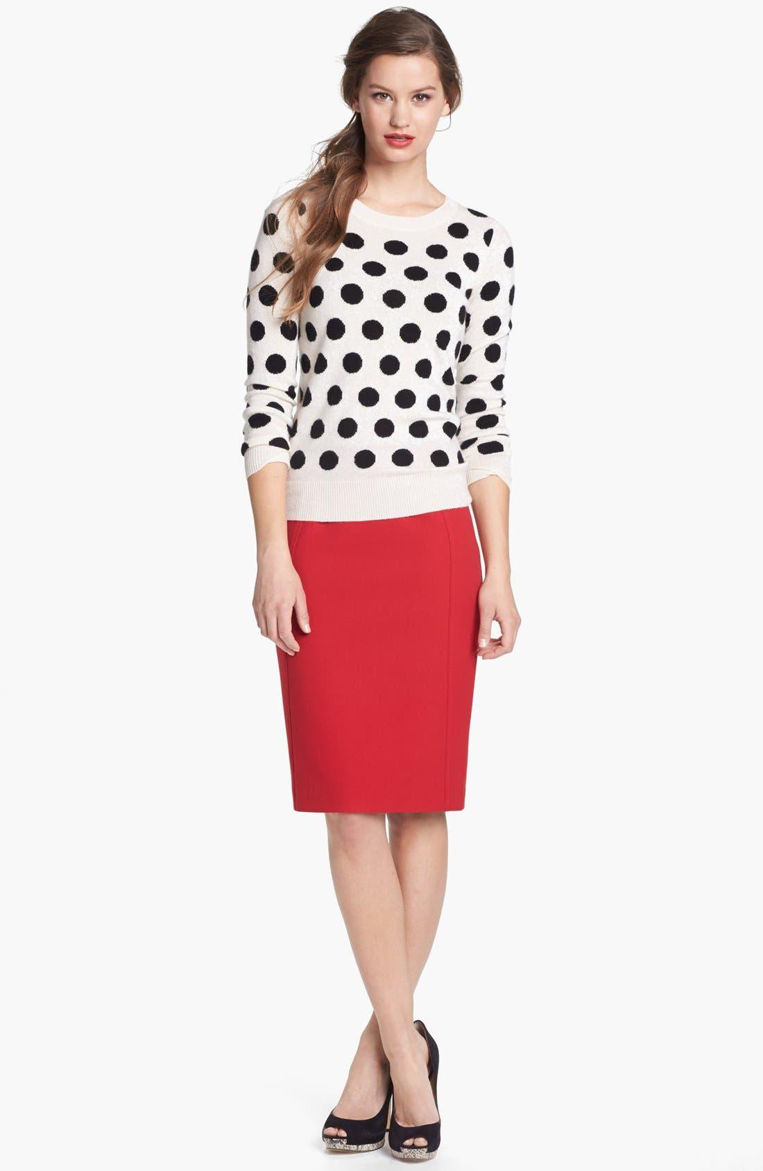 Cashmere Blend Crewneck Sweater,                         Main,                         color, 002