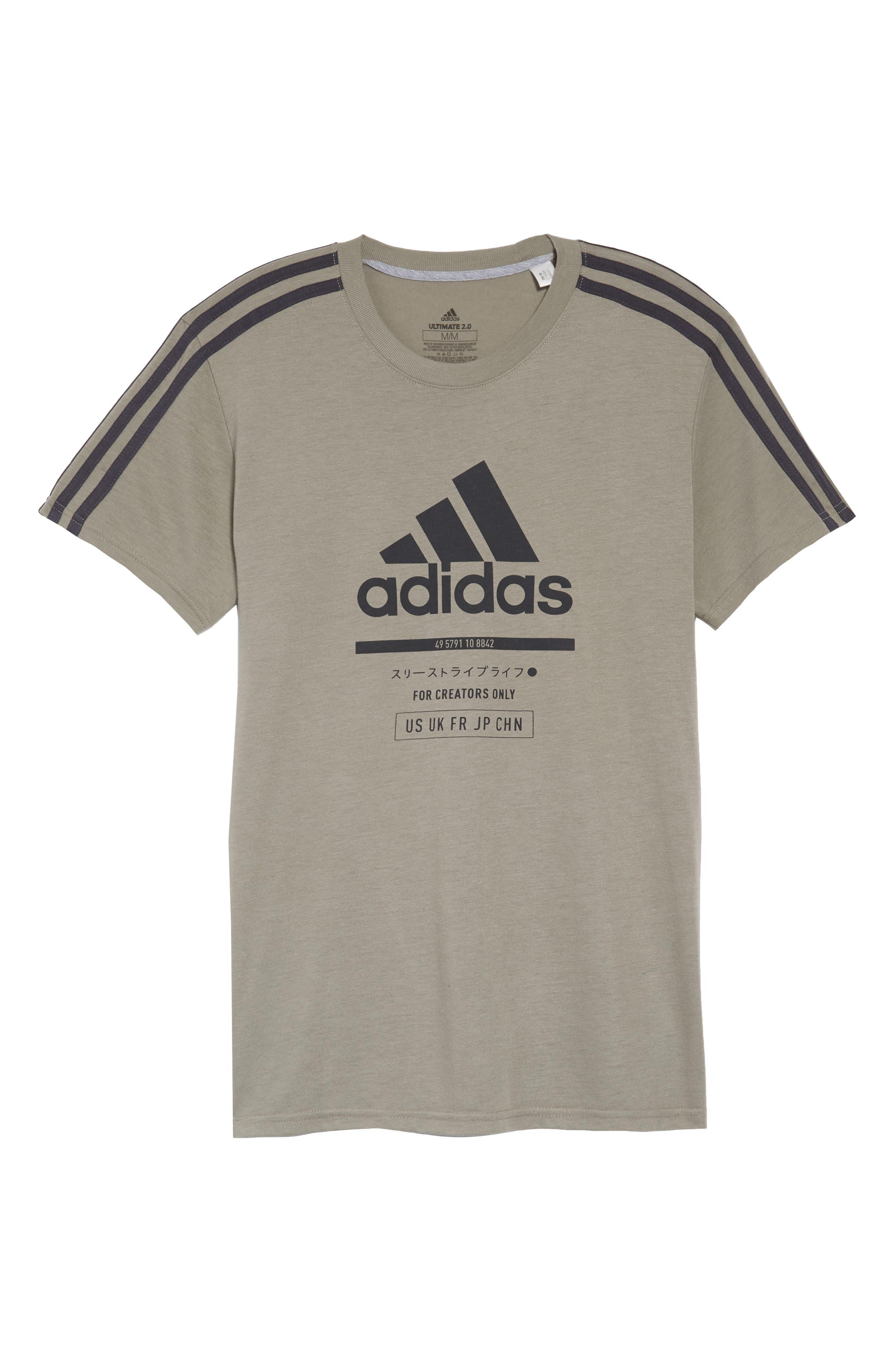 Classic International Crewneck T-Shirt,                             Alternate thumbnail 6, color,                             001