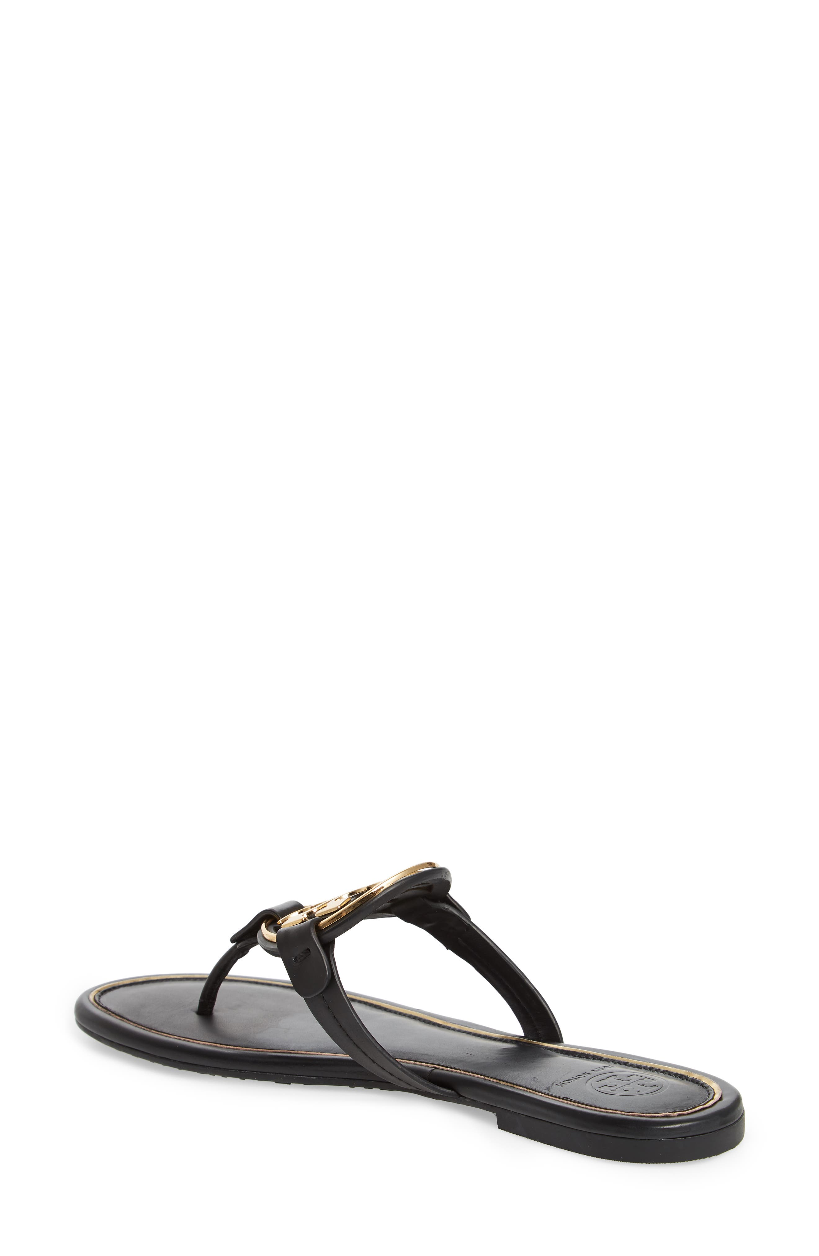 TORY BURCH,                             Metal Miller Flip Flop,                             Alternate thumbnail 2, color,                             PERFECT BLACK/ GOLD