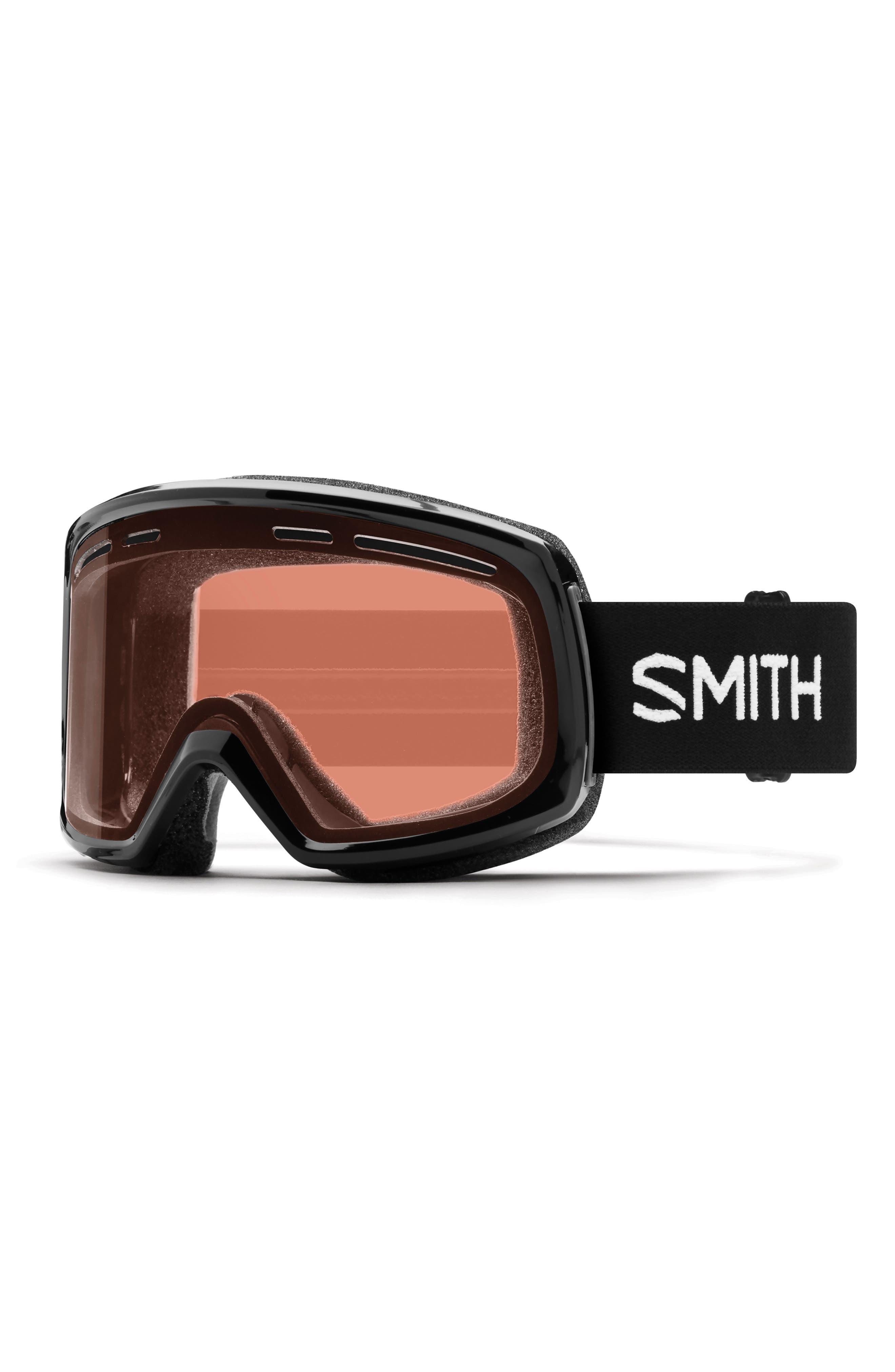 Range 192mm Snow Goggles,                         Main,                         color, BLACK