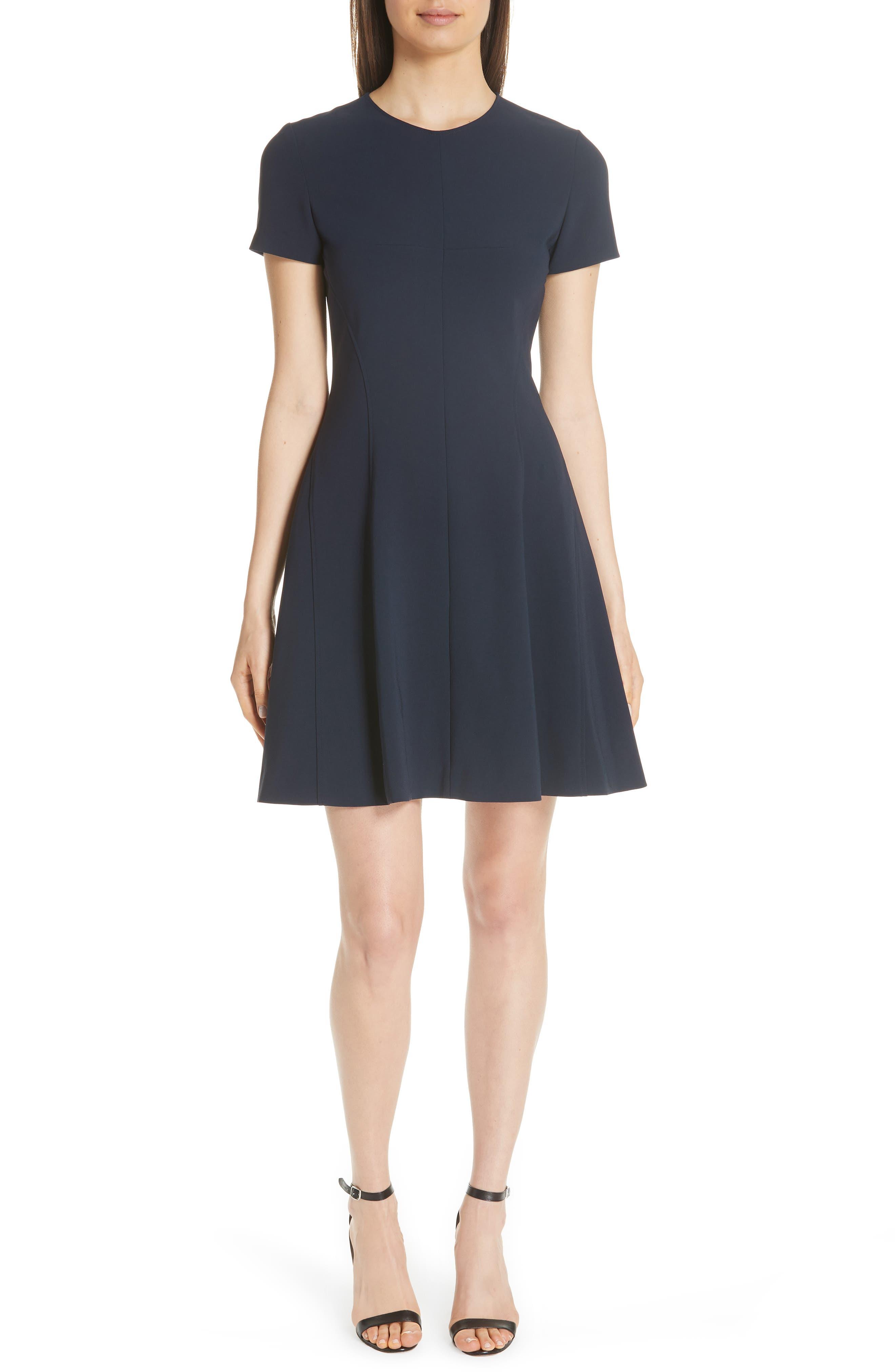 Modern Seamed Dress,                             Alternate thumbnail 6, color,                             001
