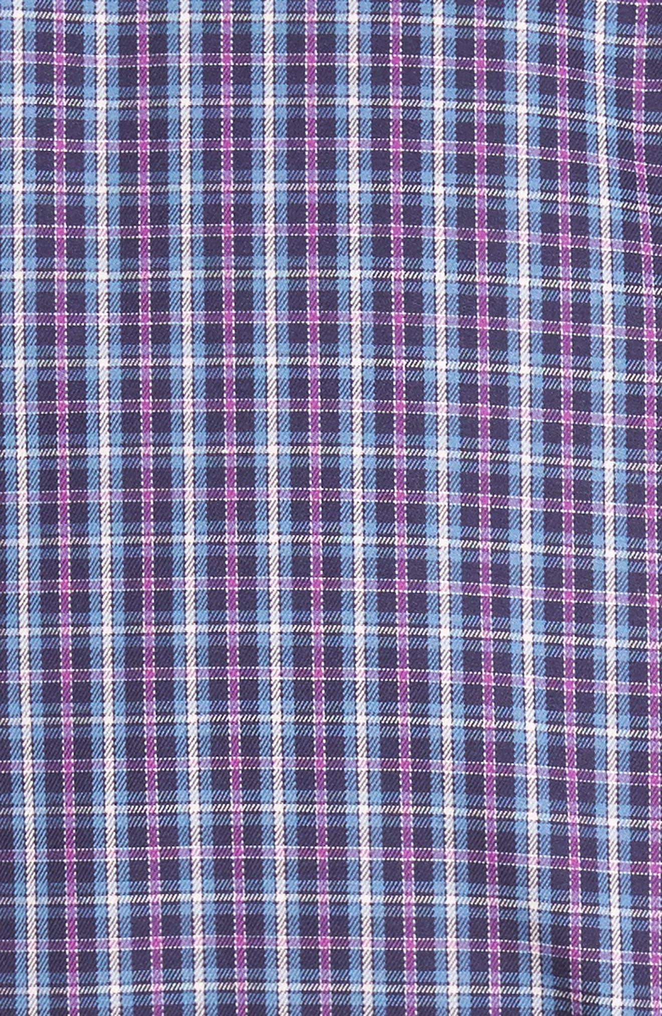 Hillock Regular Fit Plaid Sport Shirt,                             Alternate thumbnail 5, color,