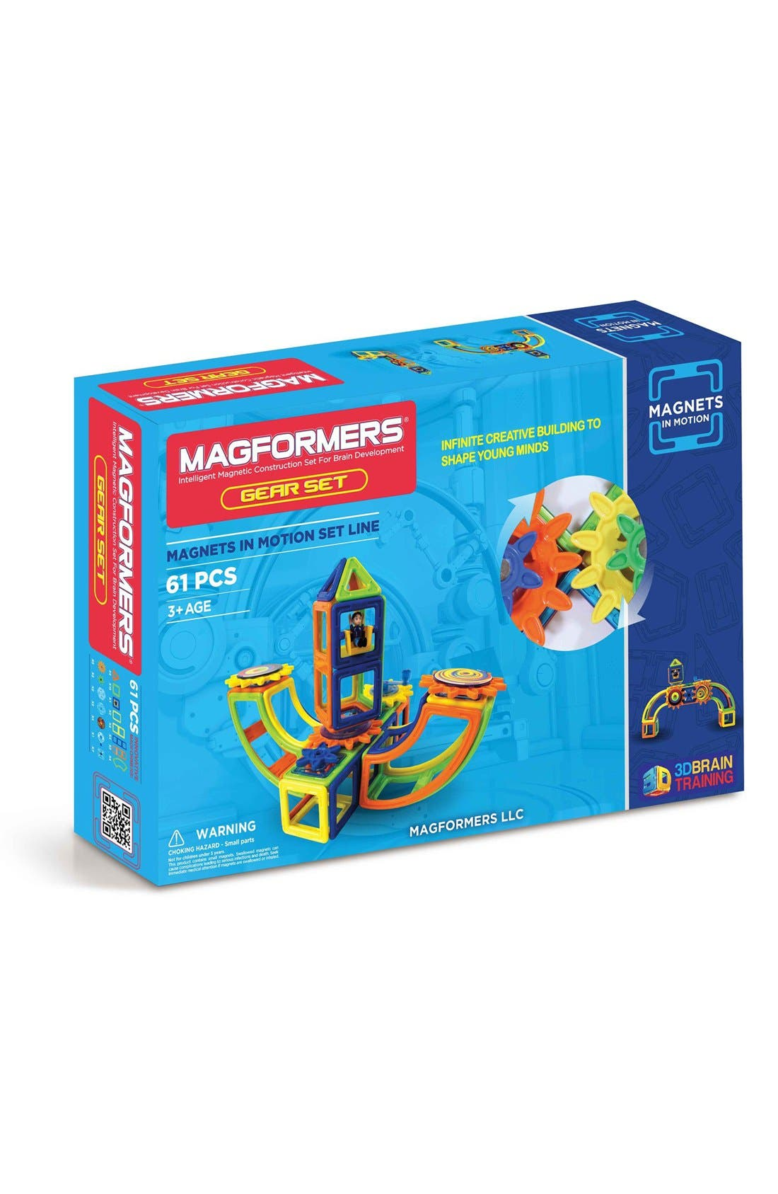 'Magnets in Motion' Magnetic 3D Construction Set,                             Main thumbnail 1, color,                             OPAQUE RAINBOW